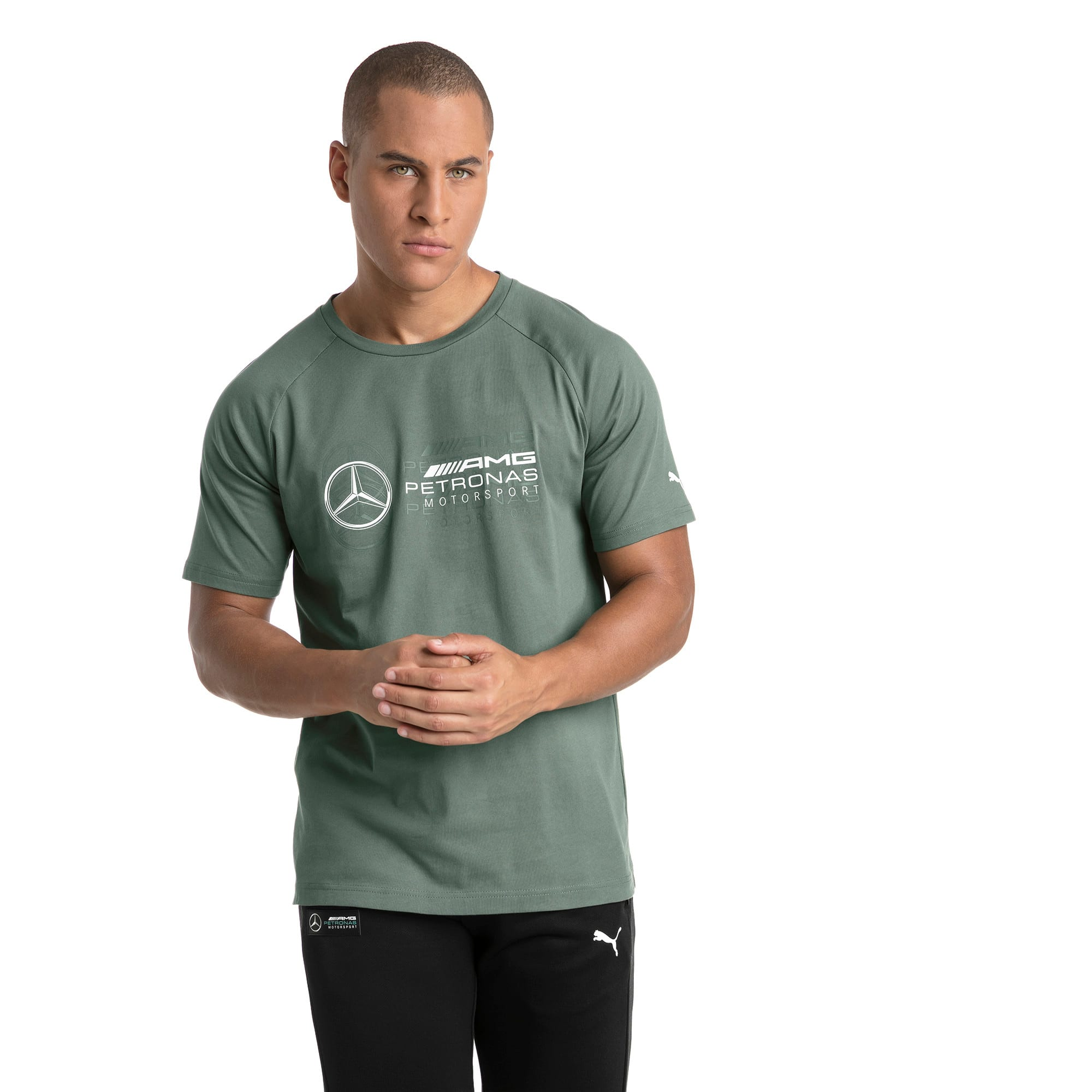 Thumbnail 2 of MERCEDES AMG PETRONAS Men's Logo T-Shirt, Laurel Wreath, medium
