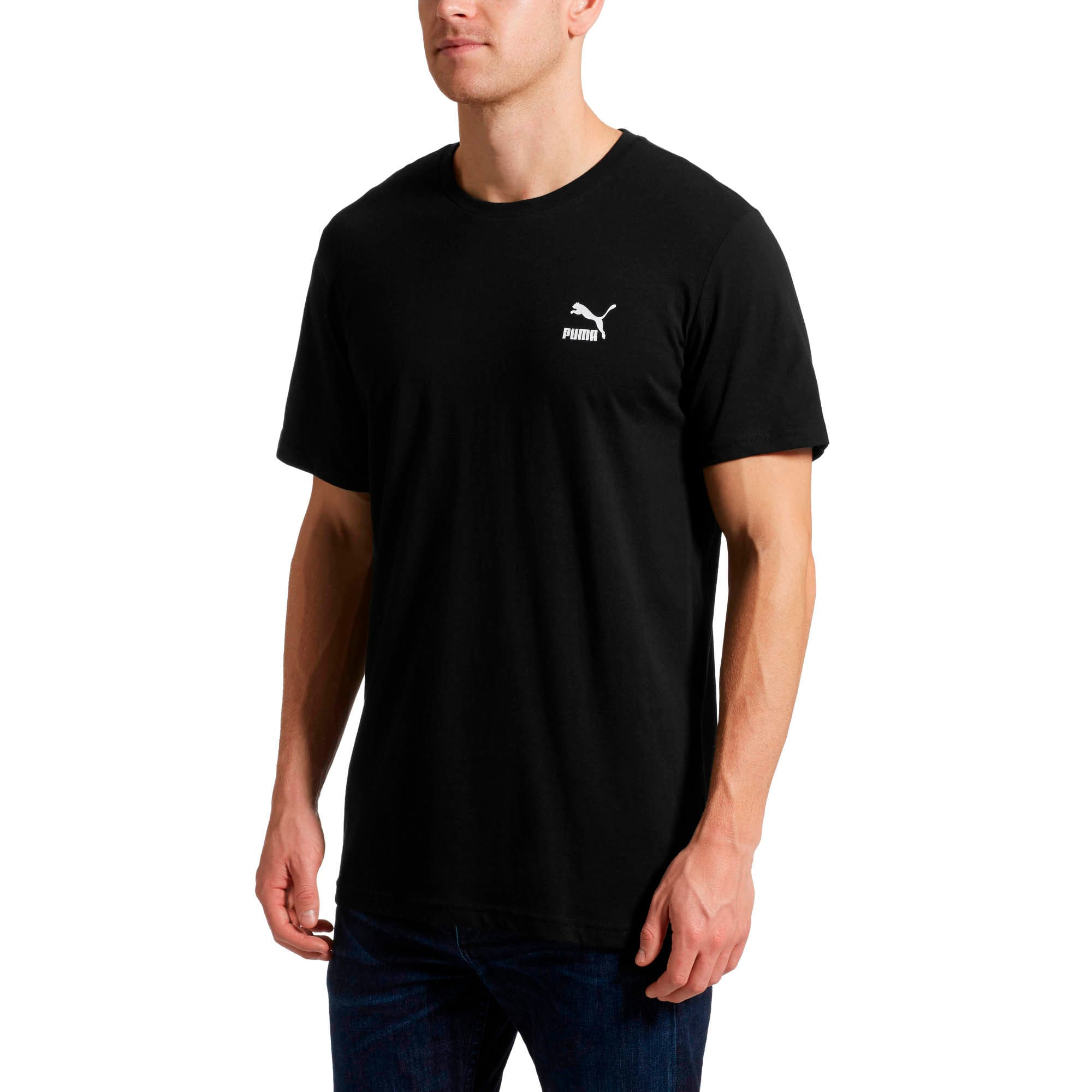 Thumbnail 2 of Graphic Downtown Label T-Shirt, Cotton Black, medium