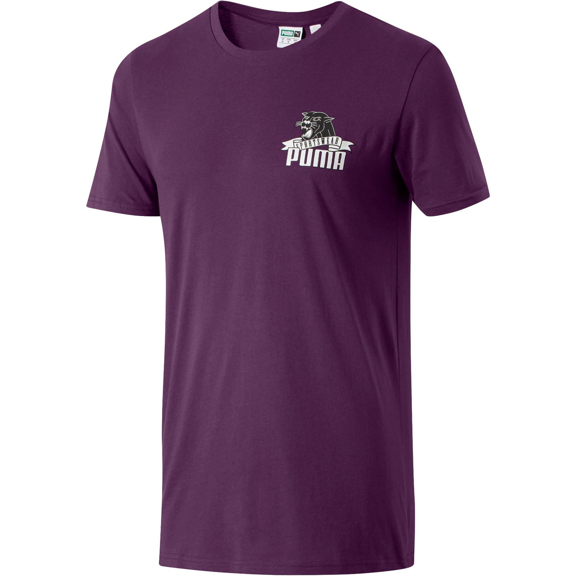 Thumbnail 1 of Graphic Downtown Flock Print T-Shirt, Shadow Purple, medium