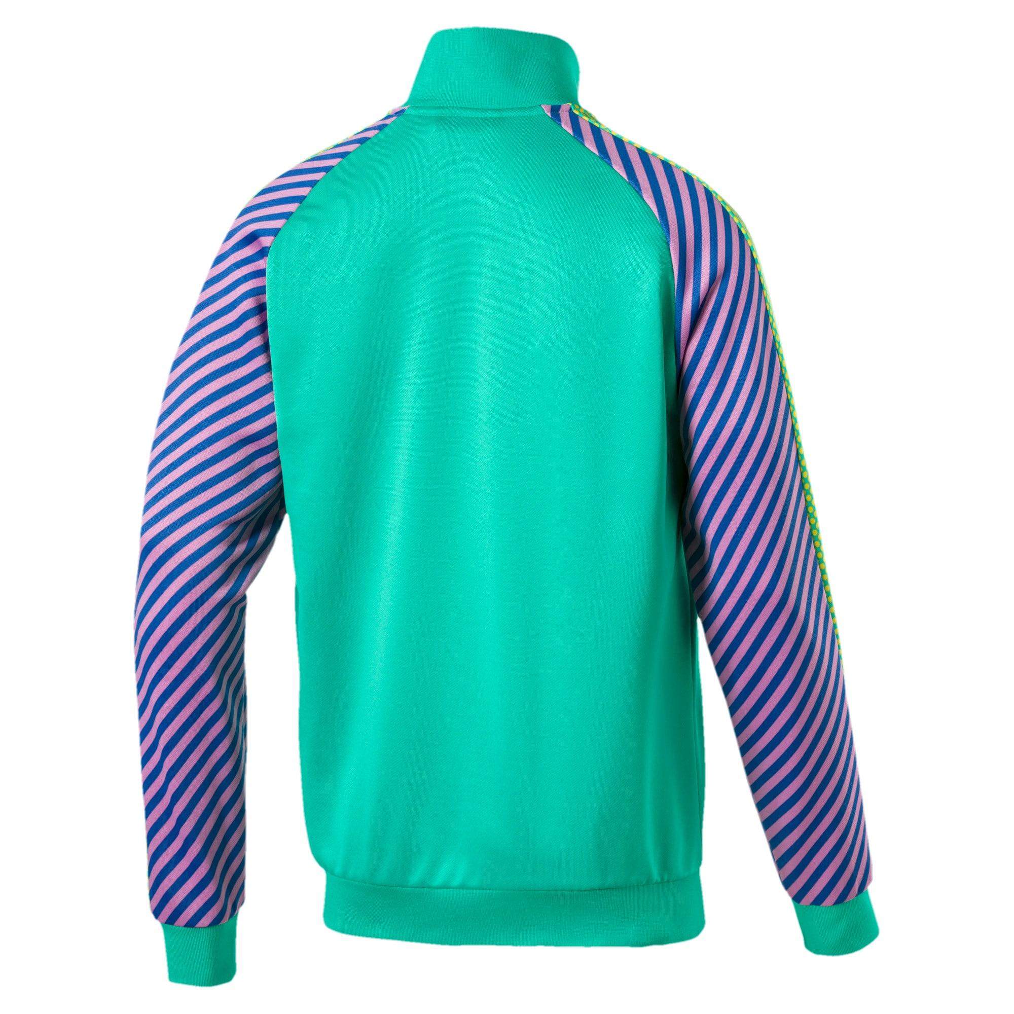 Thumbnail 3 of T7 Pop Zip-Up Men's Track Jacket, Biscay Green, medium