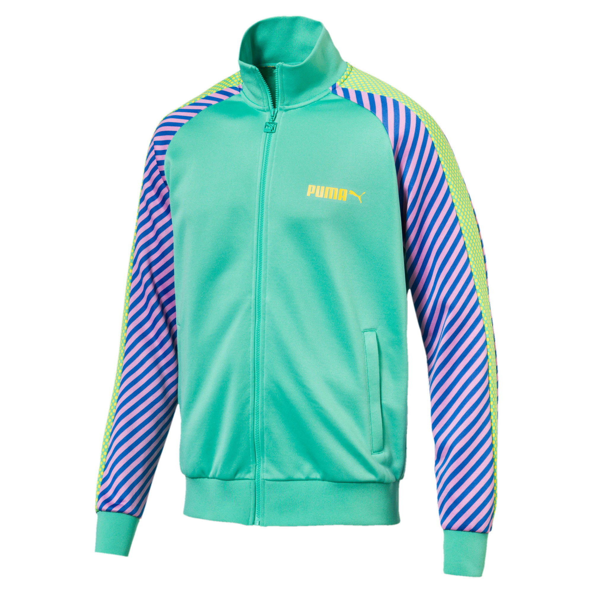 Thumbnail 1 of T7 Pop Zip-Up Men's Track Jacket, Biscay Green, medium