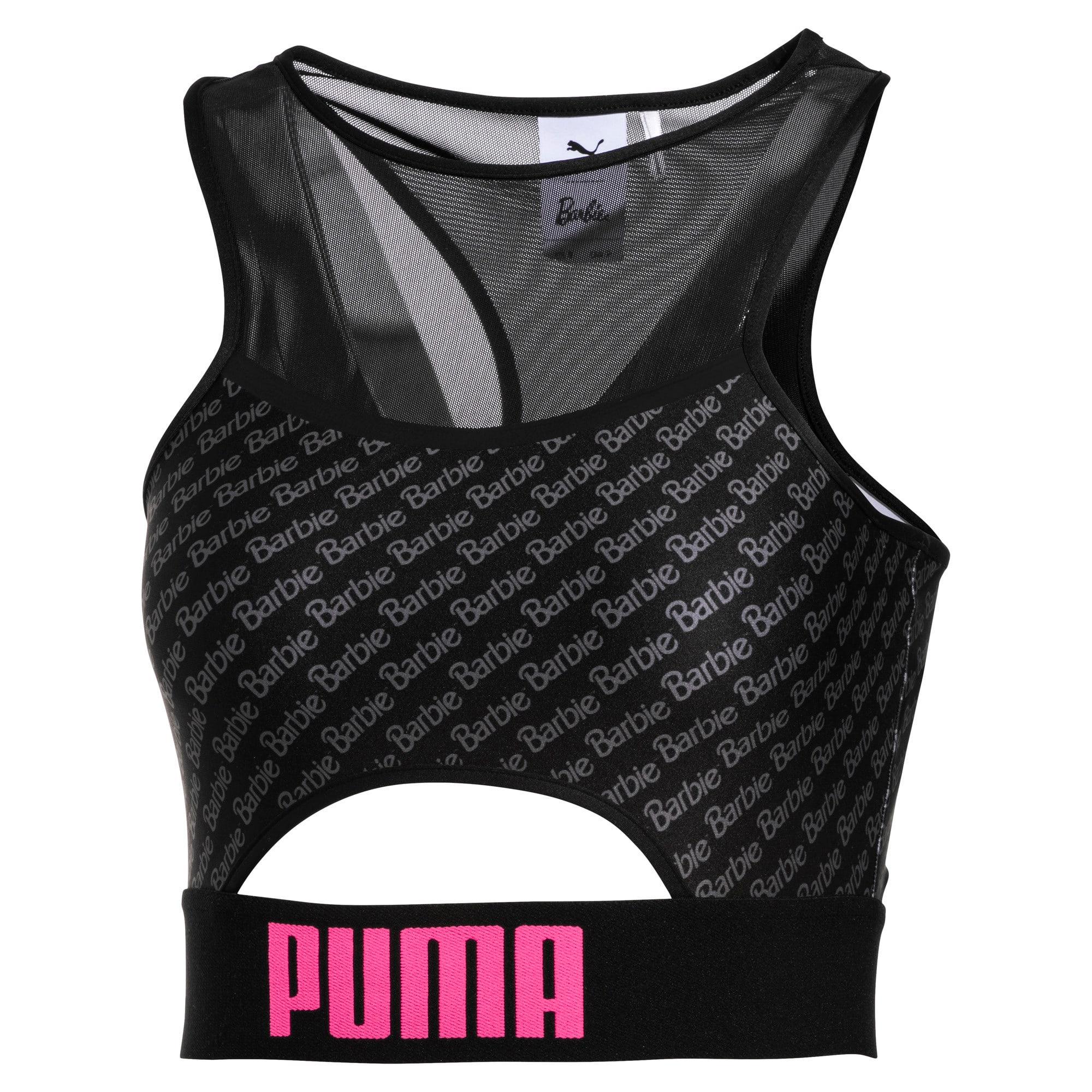 Thumbnail 1 of PUMA x BARBIE Women's Crop Top, Puma Black, medium