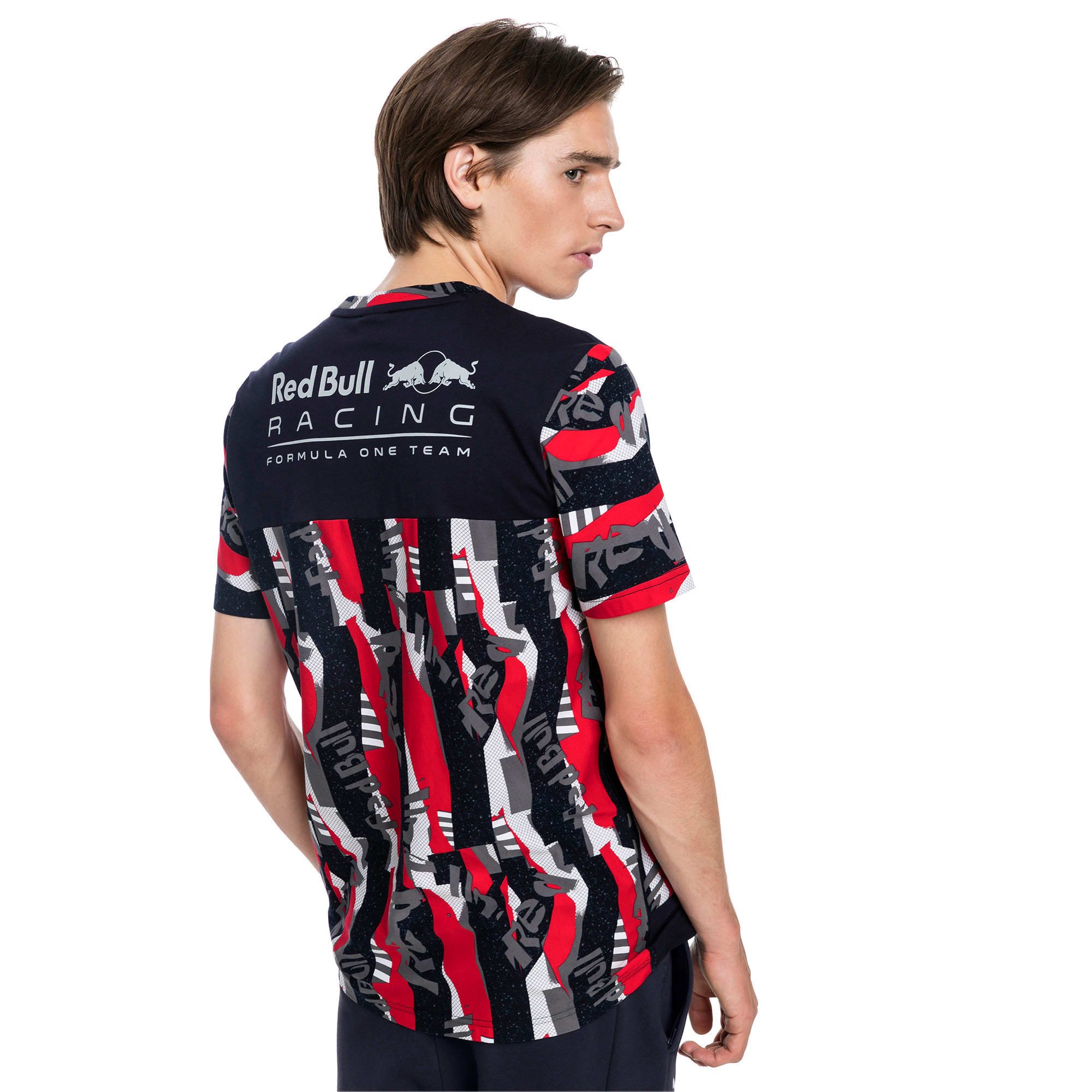 Thumbnail 2 of Red Bull Racing Lifestyle All-Over Printed Men's Tee, Chinese Red, medium