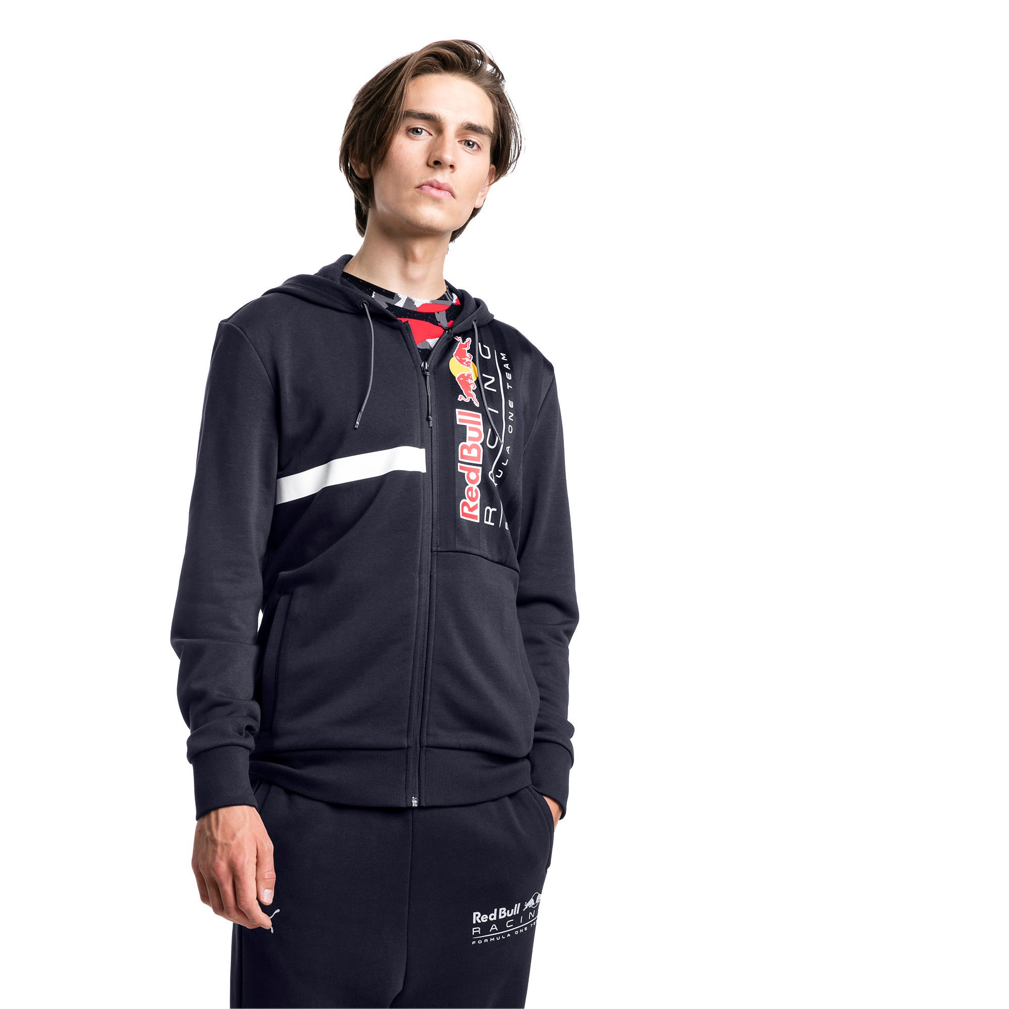 Thumbnail 1 of Red Bull Racing Logo Men's Hooded Sweat Jacket, NIGHT SKY, medium