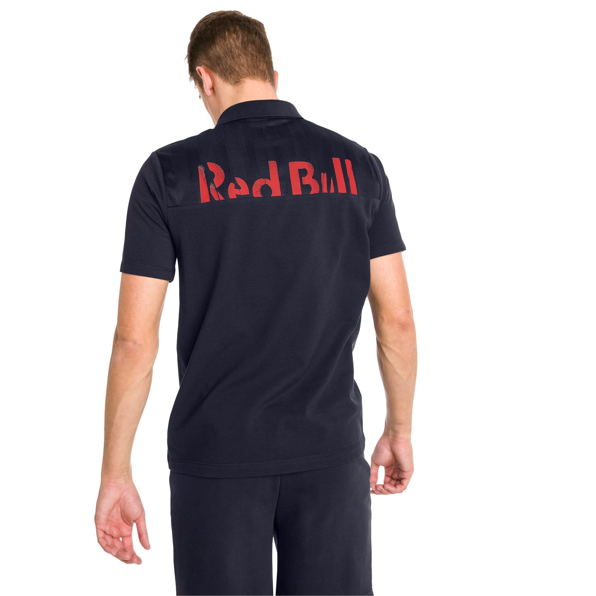 Red Bull Racing Short Sleeve Men's Polo Shirt, NIGHT SKY, large