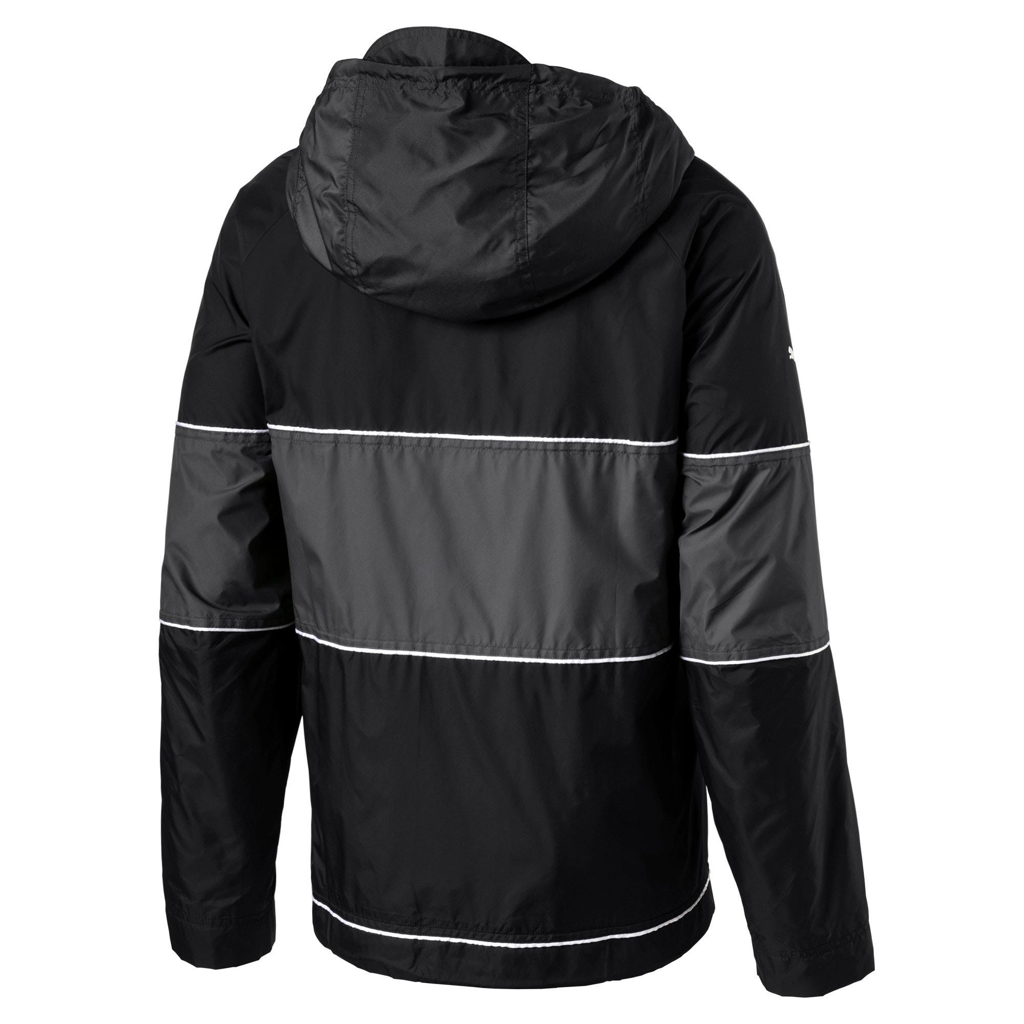 Thumbnail 2 of BMW Motorsport RCT Woven Hooded Men's Jacket, Puma Black, medium