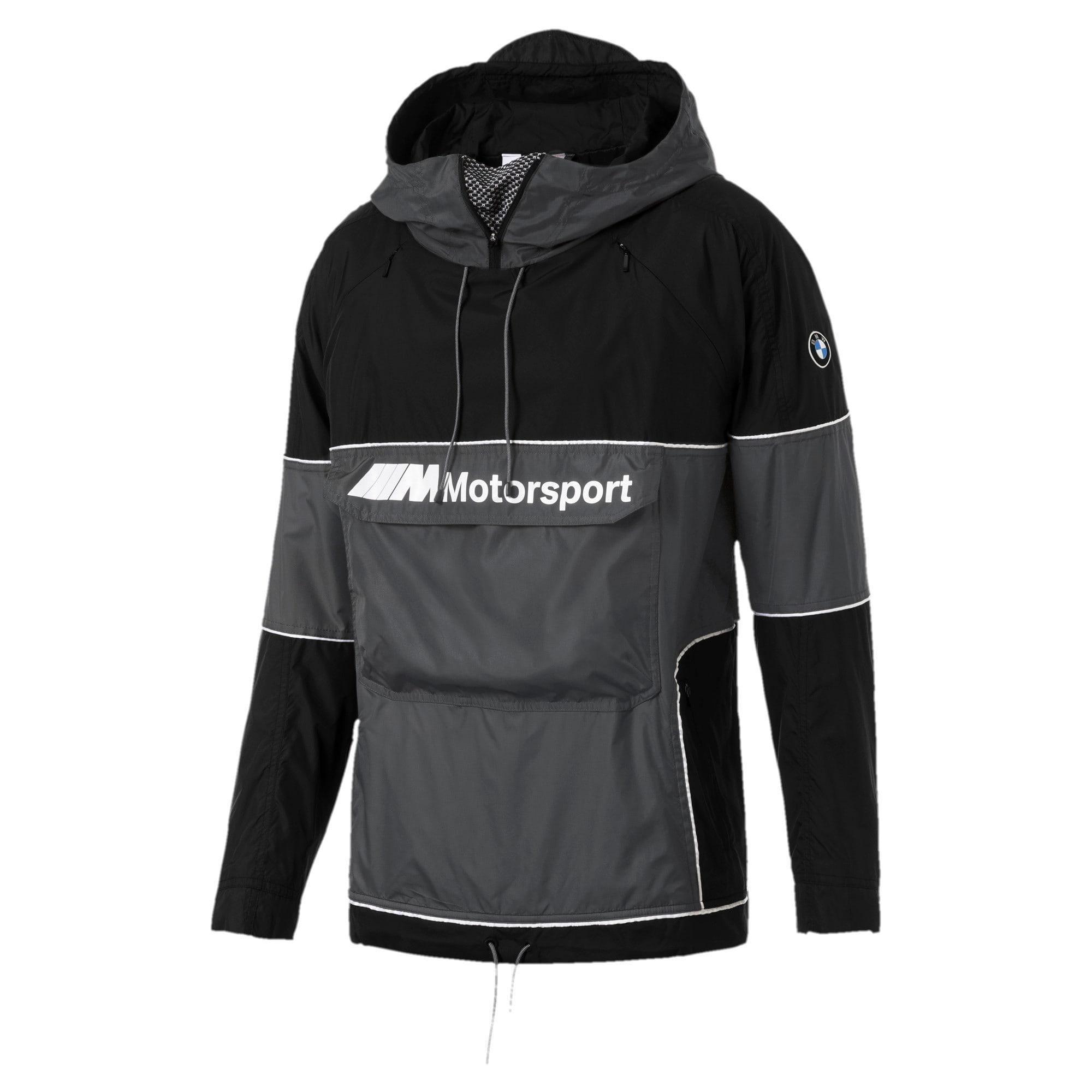 Thumbnail 1 of BMW Motorsport RCT Woven Hooded Men's Jacket, Puma Black, medium