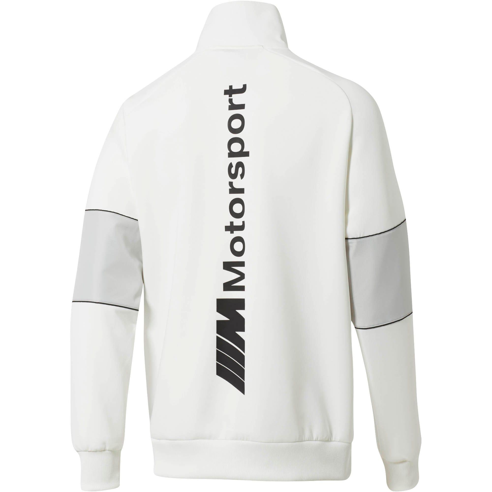 Miniatura 3 de Chaqueta deportiva BMW M Motorsport Life con medio cierre para hombre, Puma White, mediano