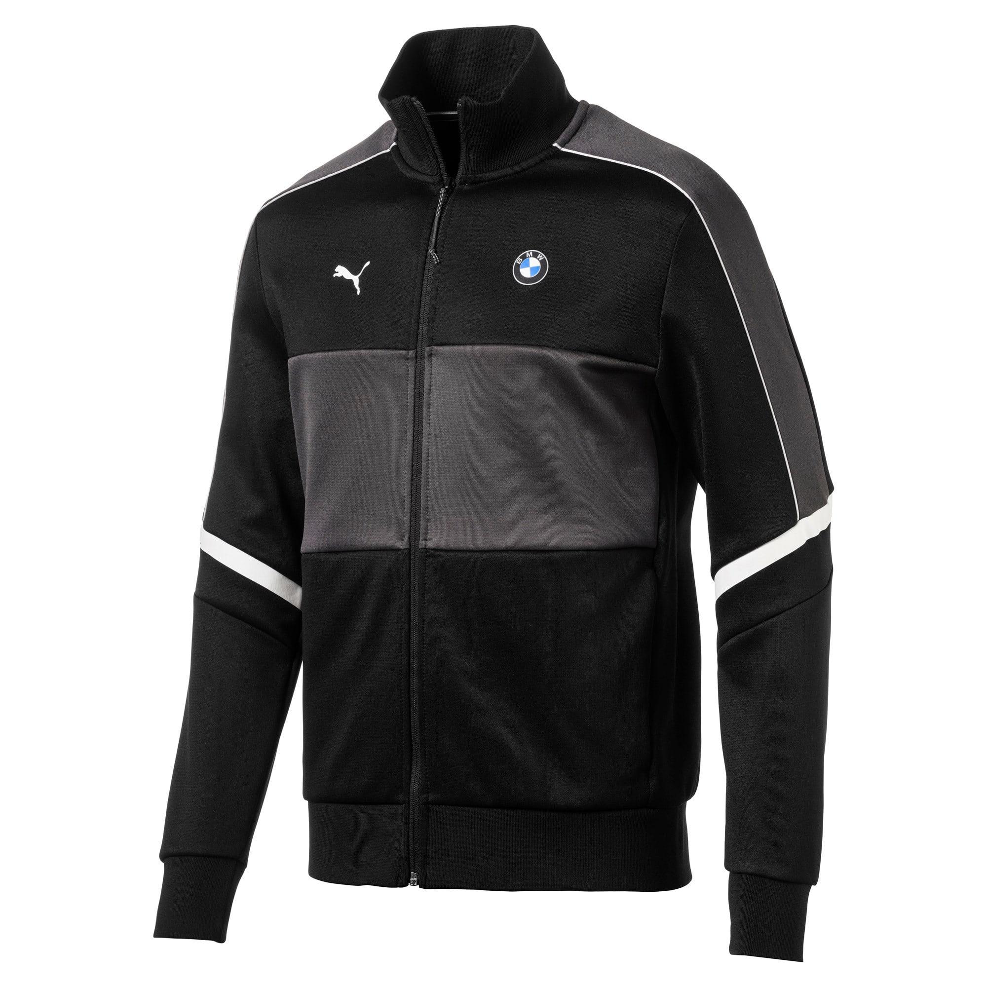 Thumbnail 2 of BMW M Motorsport Men's T7 Track Jacket, Puma Black, medium