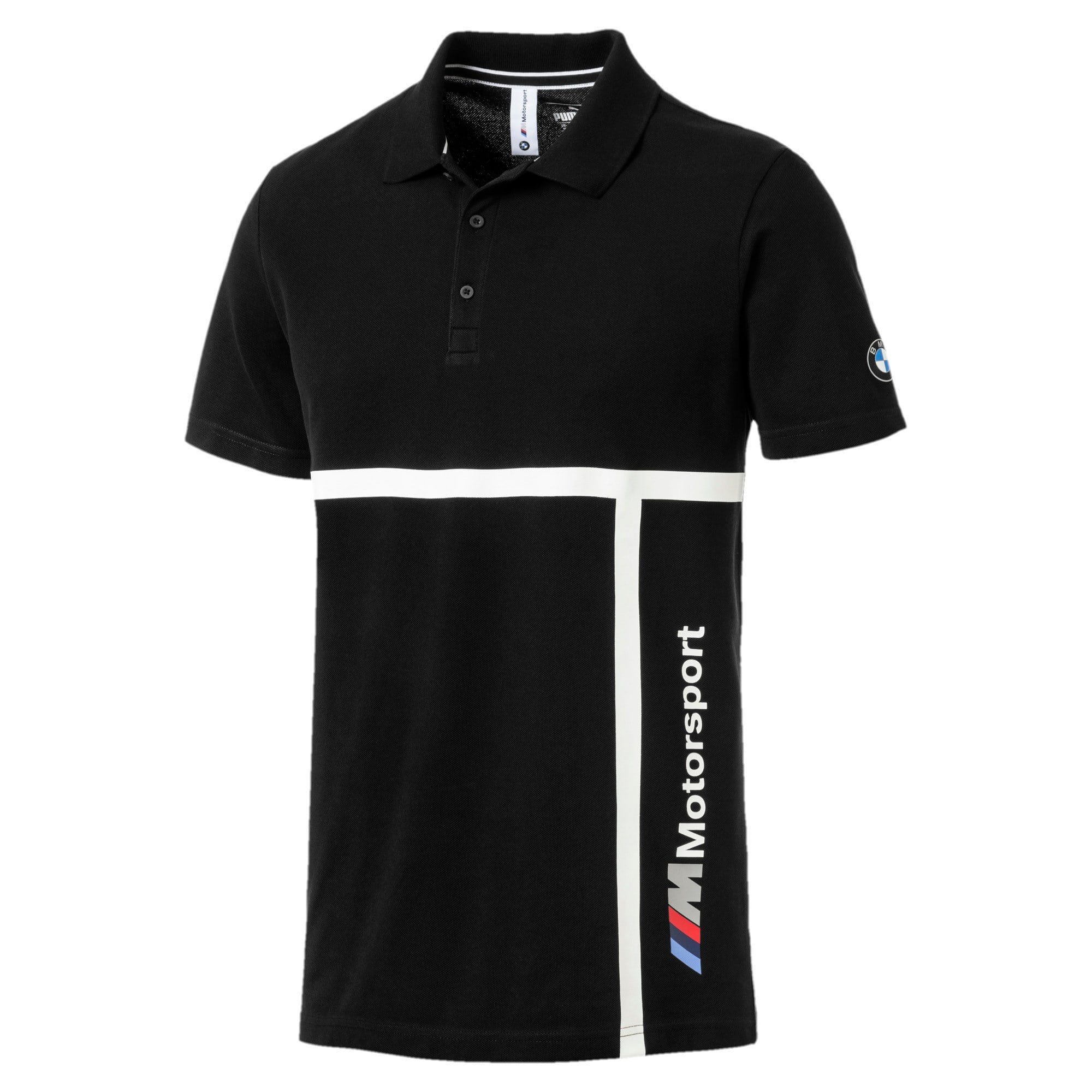 Thumbnail 4 of BMW M Motorsport Men's Polo, Puma Black, medium