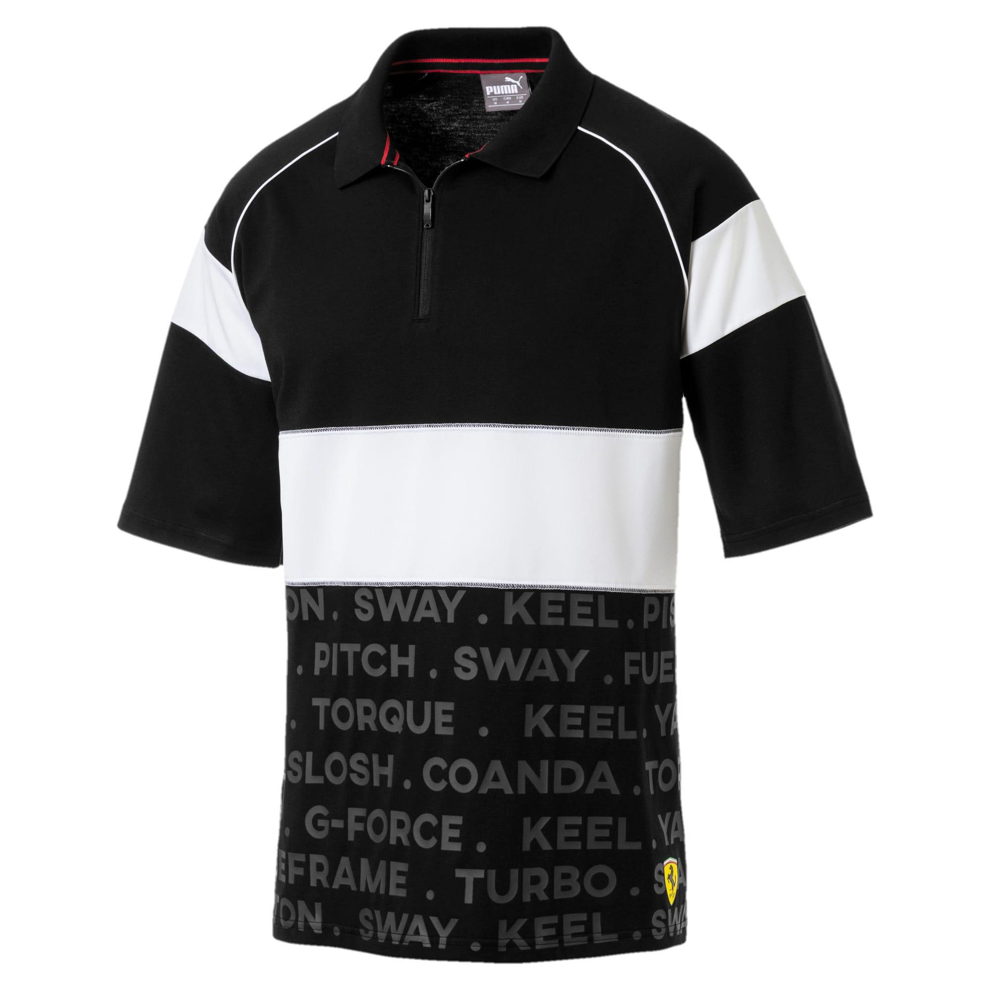 Thumbnail 2 of Scuderia Ferrari Street Men's Polo, Puma Black, medium