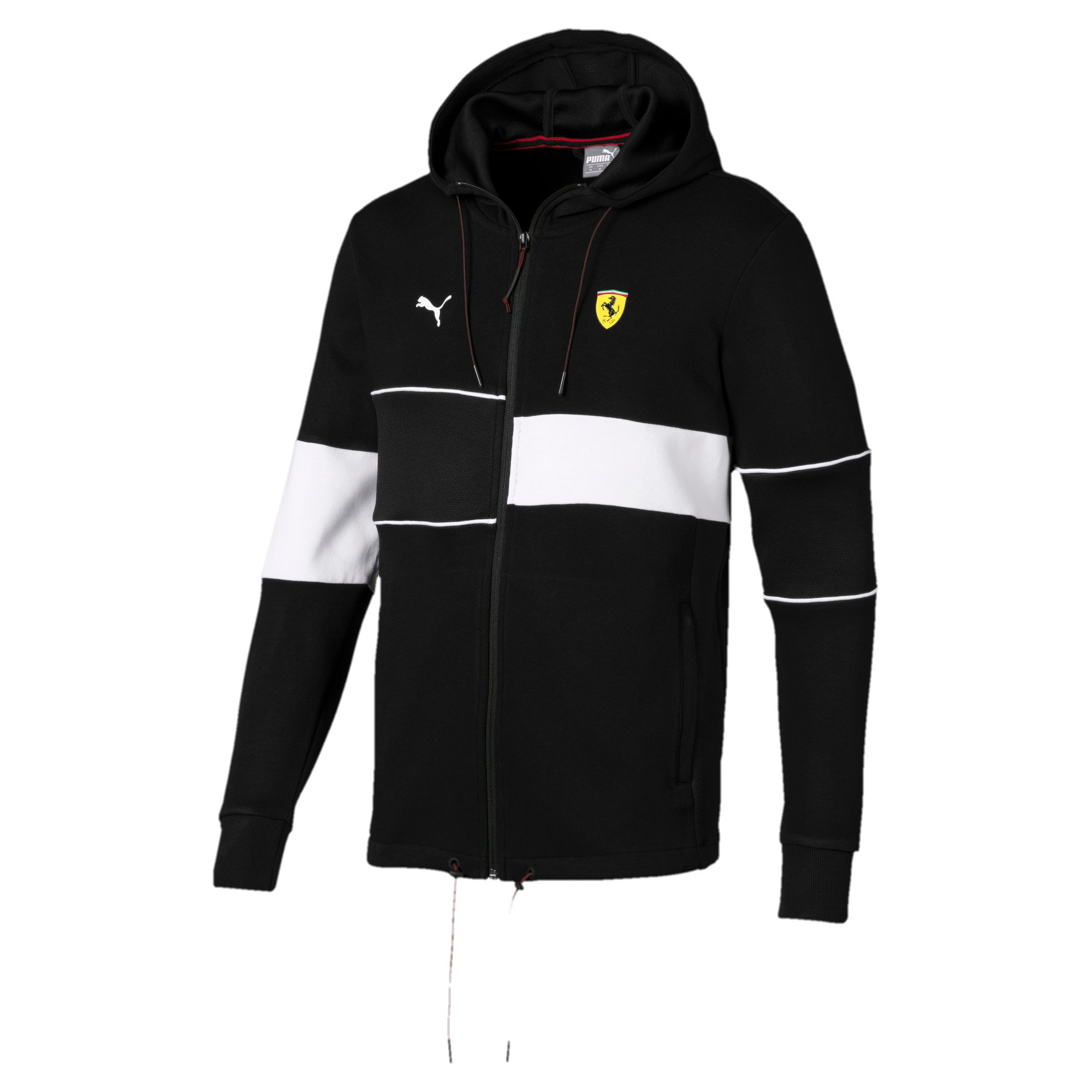 Thumbnail 4 of Scuderia Ferrari Men's Hooded Sweat Jacket, Puma Black, medium