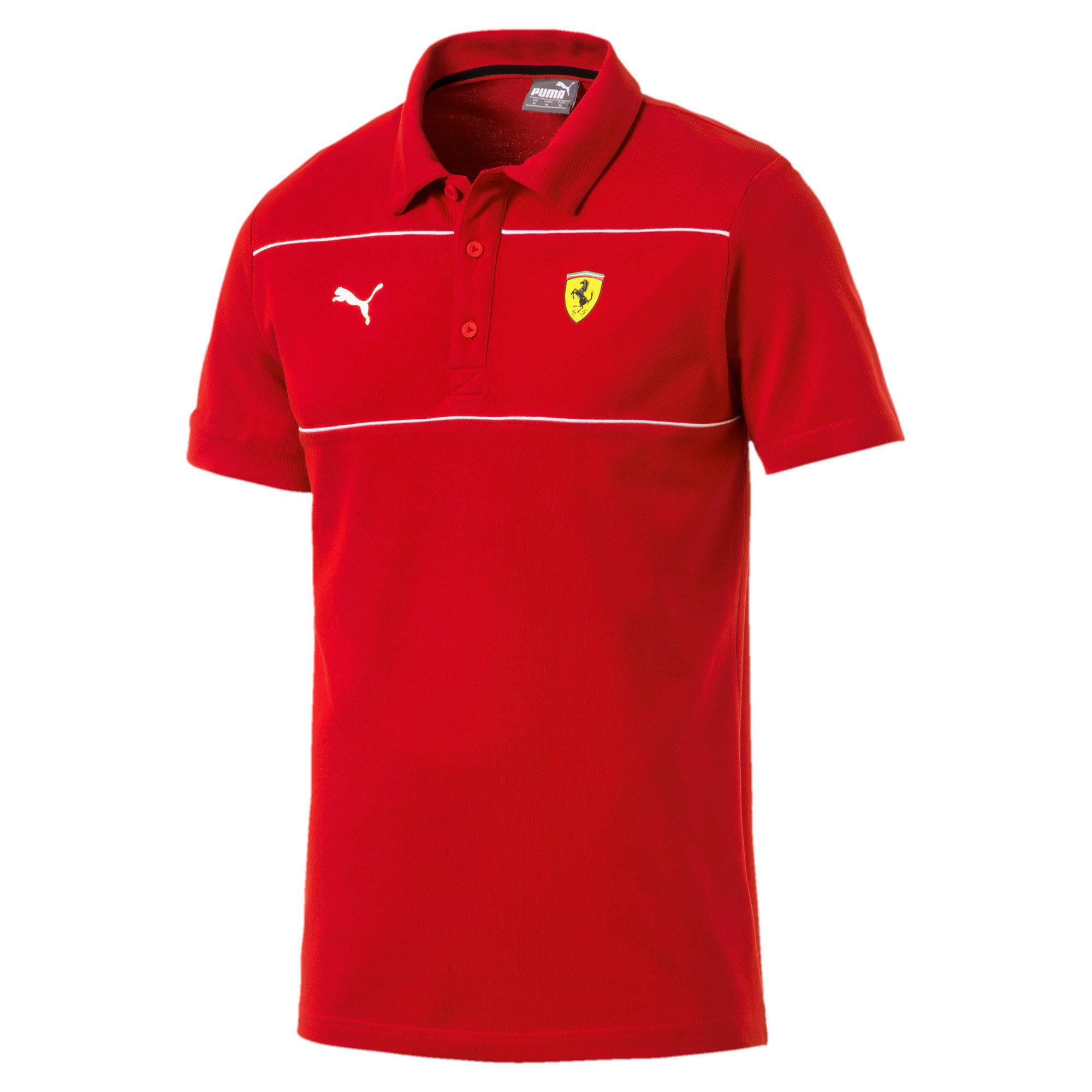 Thumbnail 4 of Scuderia Ferrari Men's Polo, Rosso Corsa, medium
