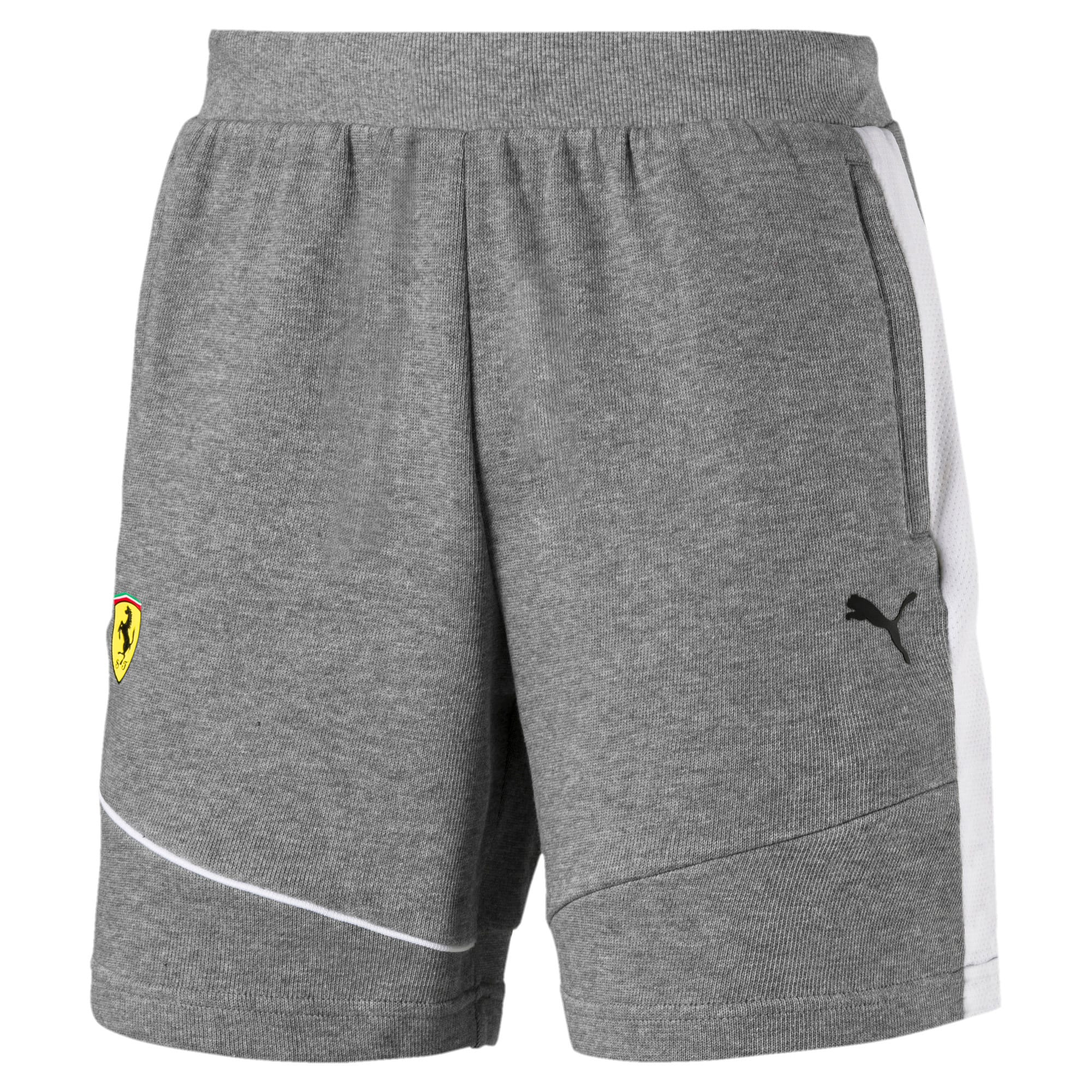 Thumbnail 2 of Scuderia Ferrari Men's Sweat Shorts, Medium Gray Heather, medium