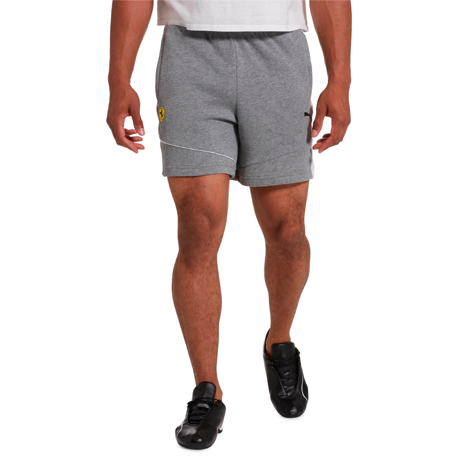 Thumbnail 1 of Scuderia Ferrari Men's Sweat Shorts, Medium Gray Heather, medium