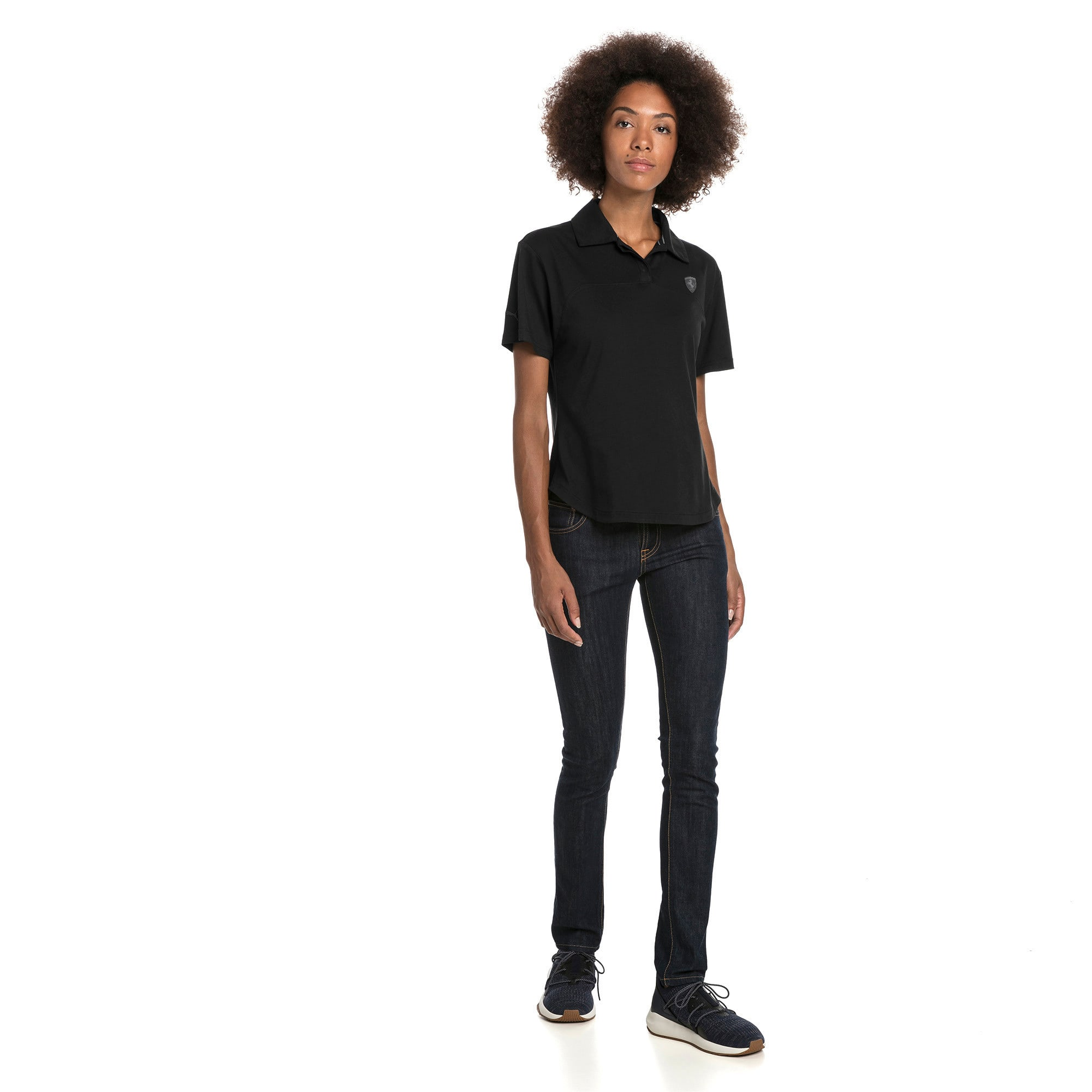 Miniatura 3 de Camiseta tipo polo Scuderia Ferrari para mujer, Puma Black, mediano