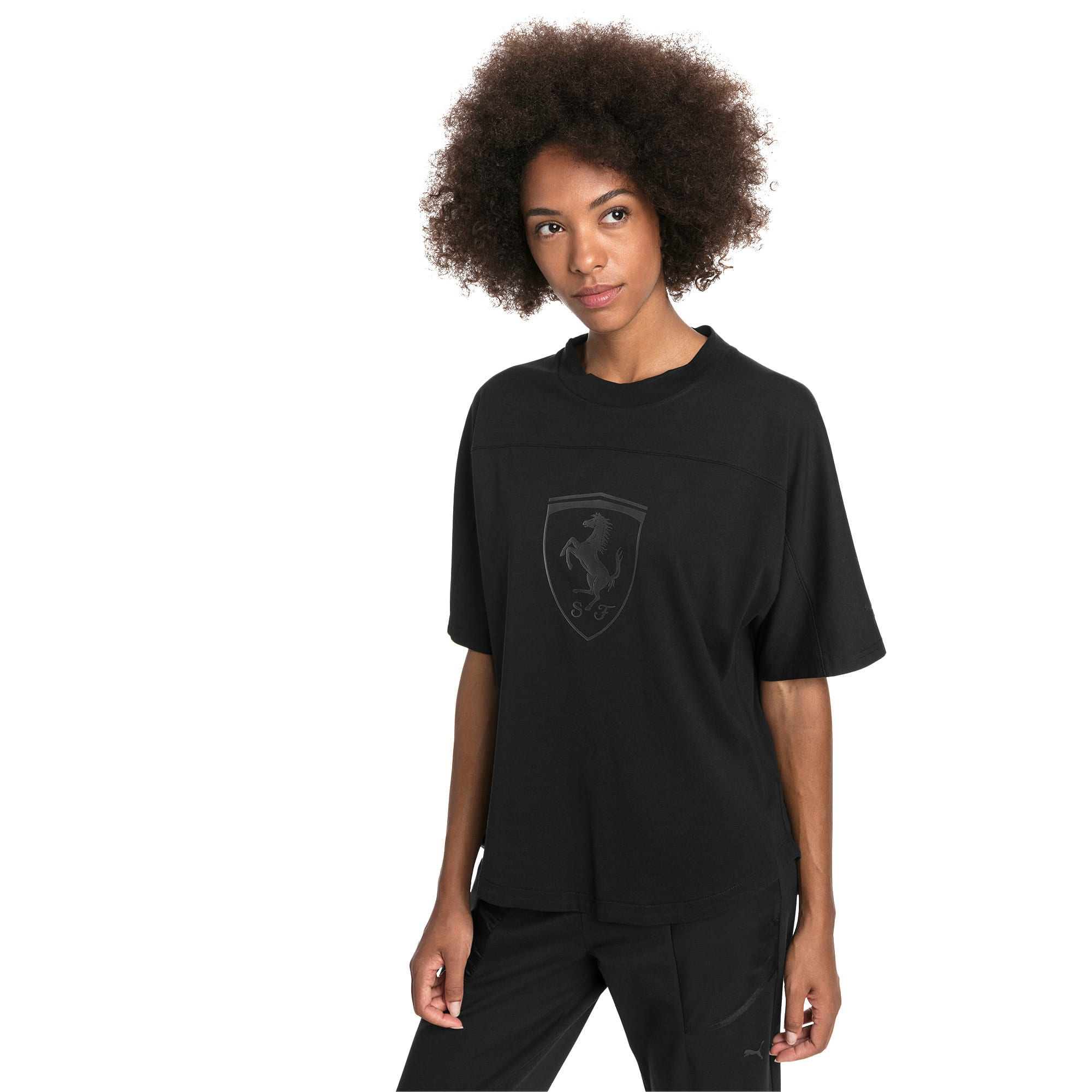 Thumbnail 1 of Ferrari Big Shield Women's Tee, Puma Black, medium