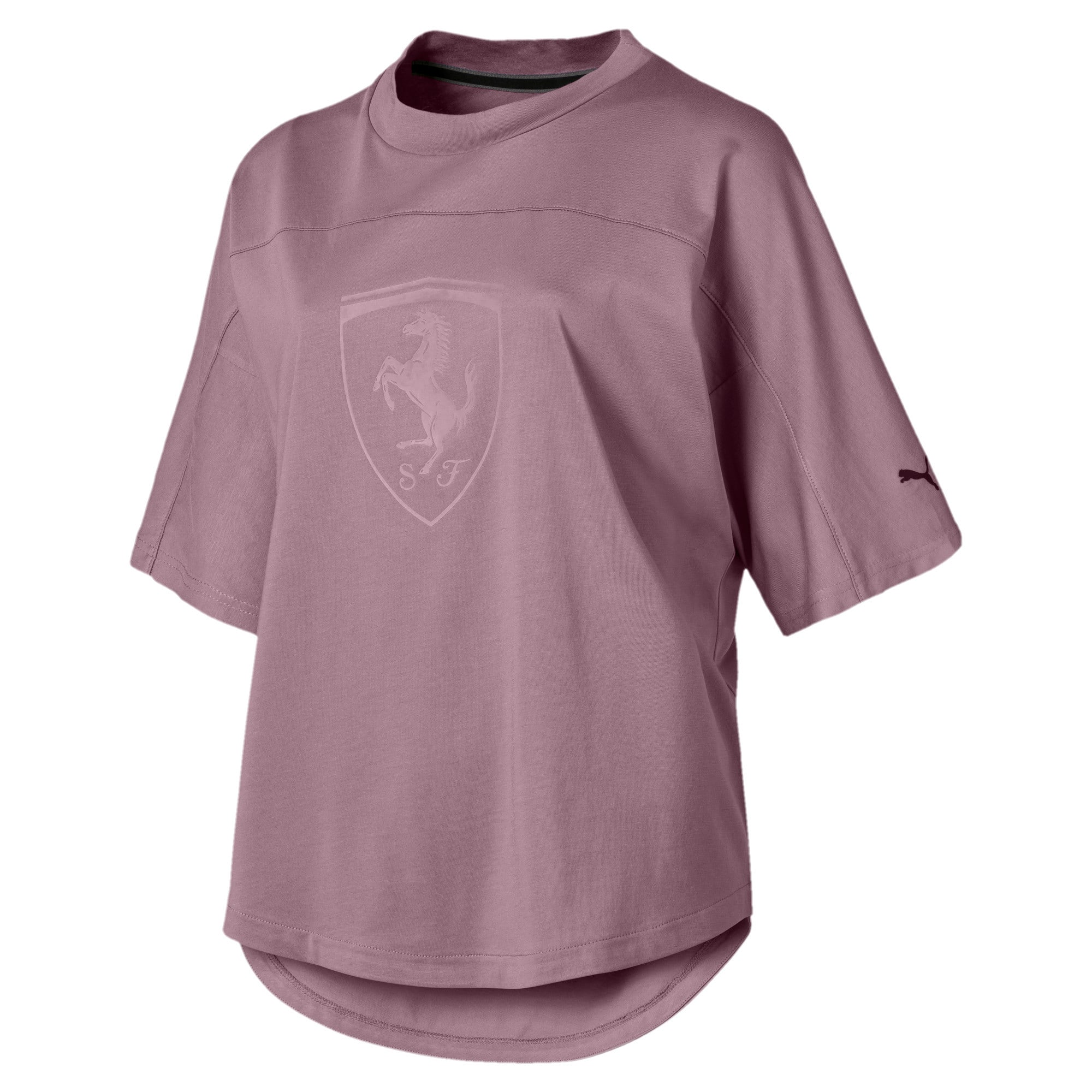 Thumbnail 4 of Scuderia Ferrari Women's Big Shield Tee, Elderberry, medium