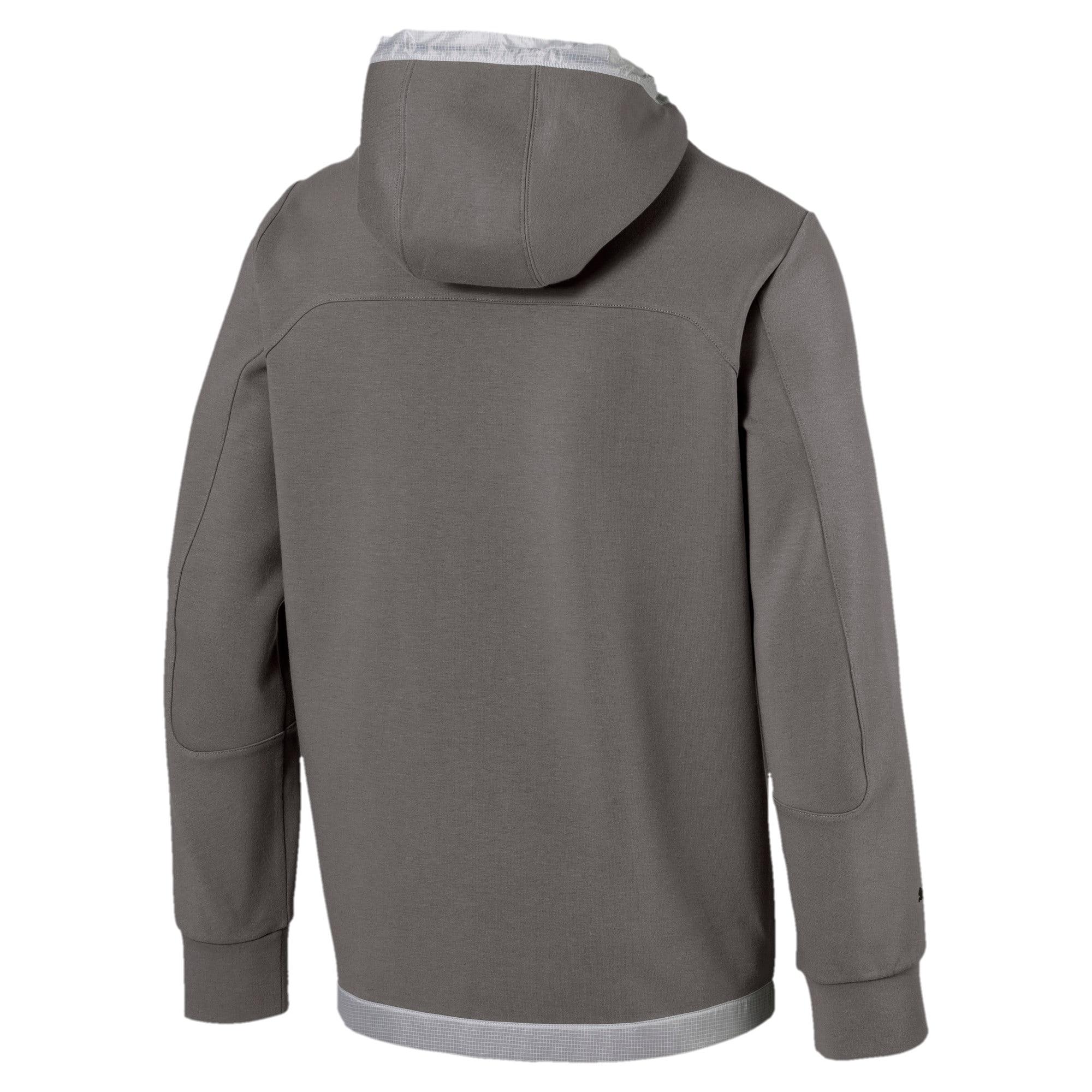 Thumbnail 2 of Scuderia Ferrari Men's Hooded Sweat Jacket, Charcoal Gray, medium