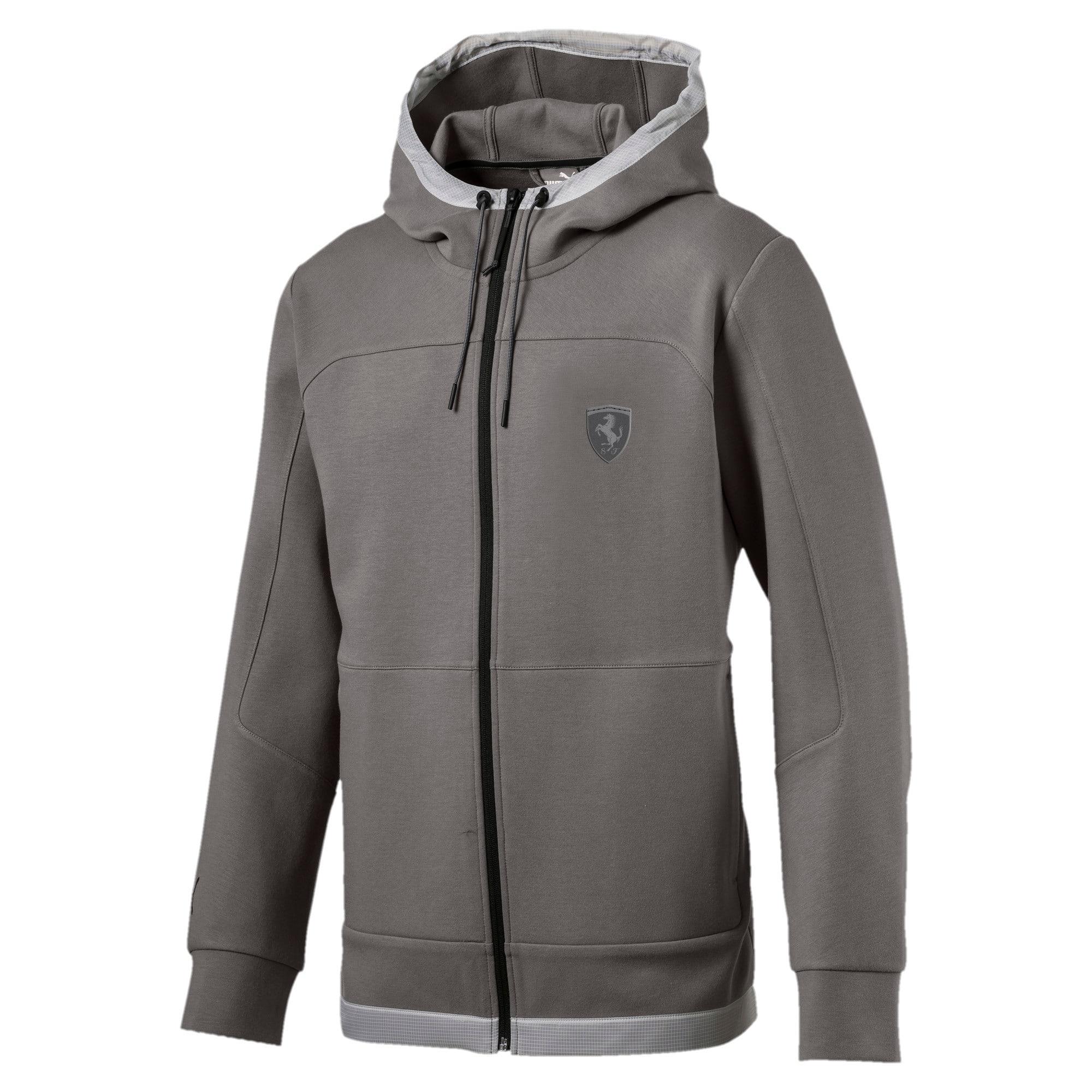 Thumbnail 1 of Scuderia Ferrari Men's Hooded Sweat Jacket, Charcoal Gray, medium