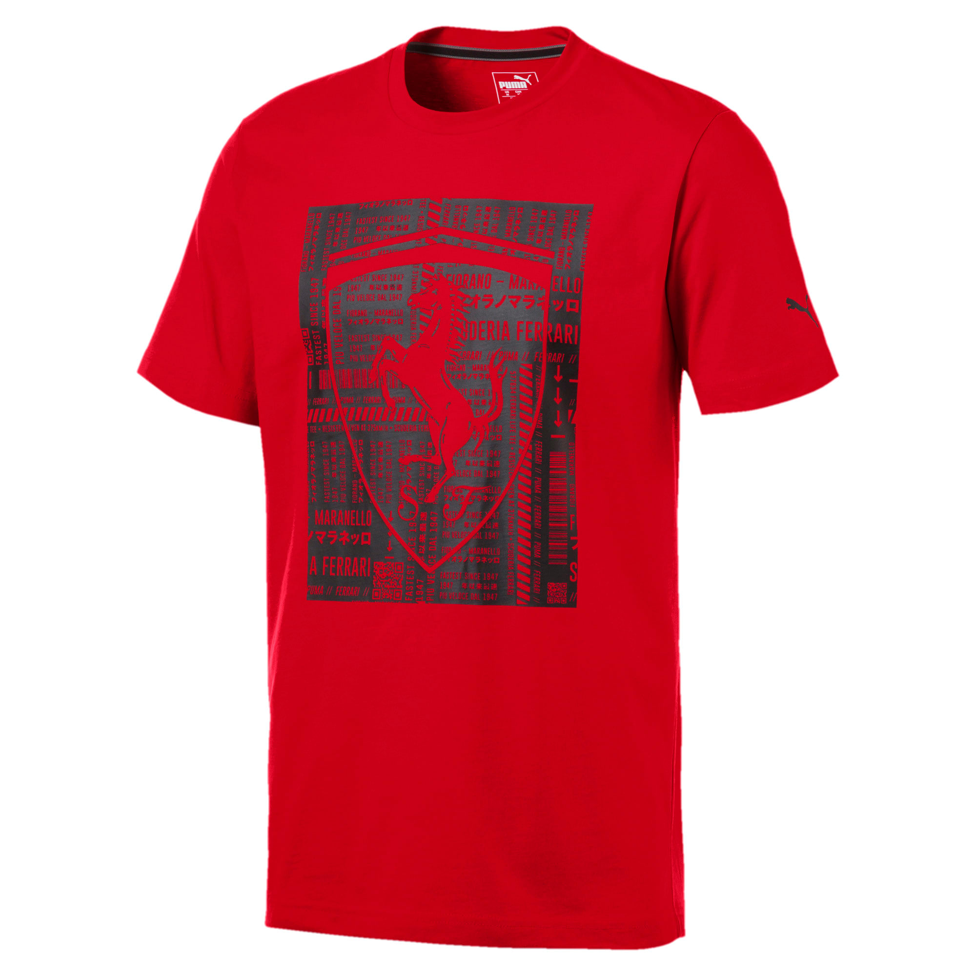 Thumbnail 4 of Ferrari Big Shield Herren T-Shirt, Rosso Corsa, medium