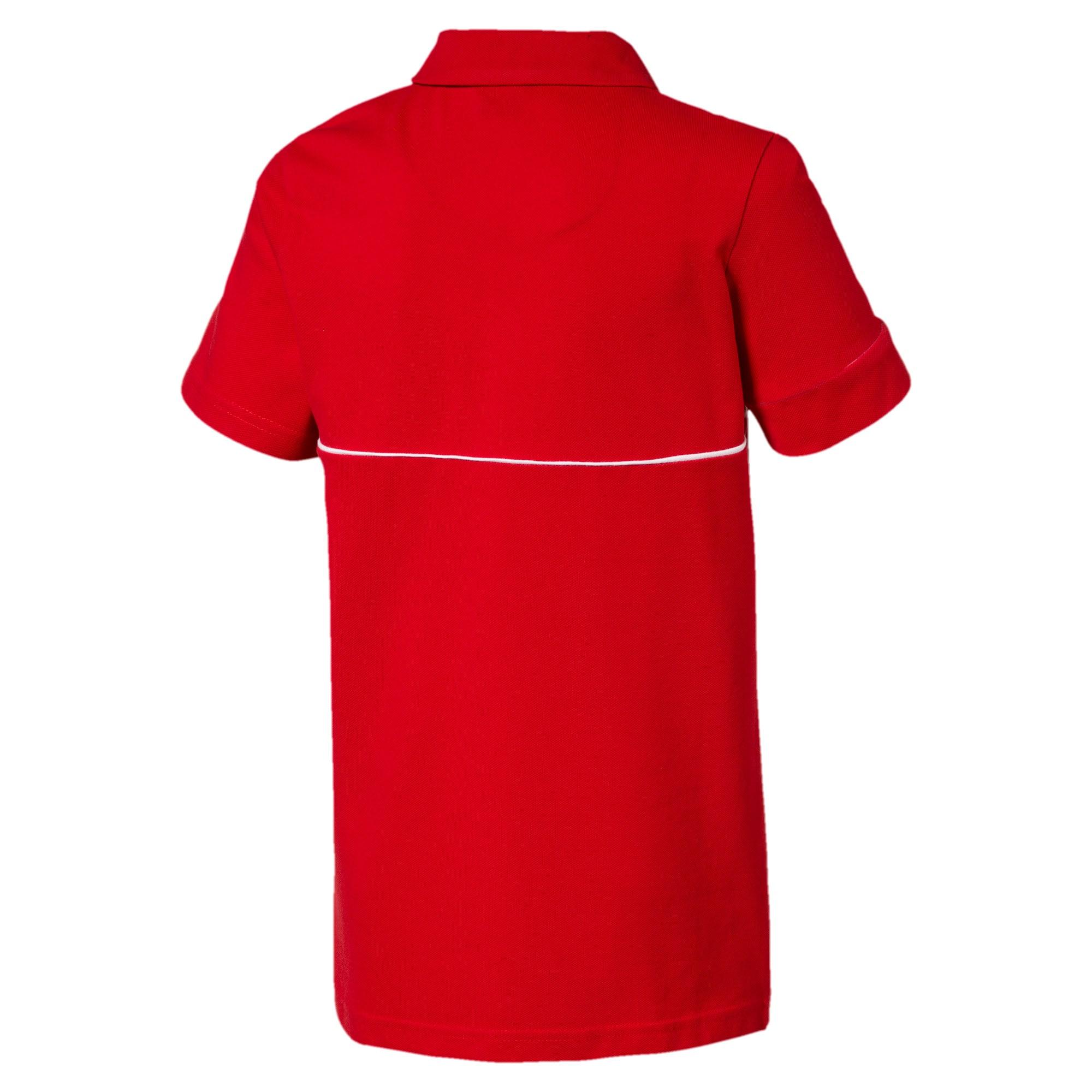 Miniatura 2 de Camiseta tipo polo Scuderia Ferrari para niño joven, Rosso Corsa, mediano