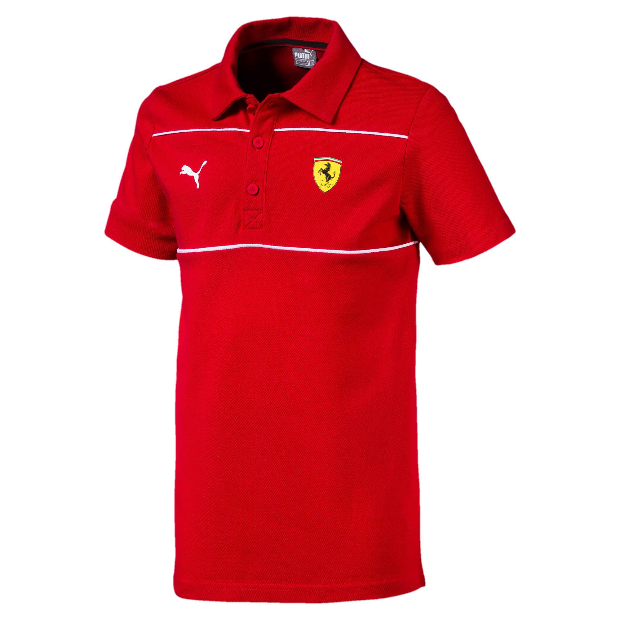 Miniatura 1 de Camiseta tipo polo Scuderia Ferrari para niño joven, Rosso Corsa, mediano