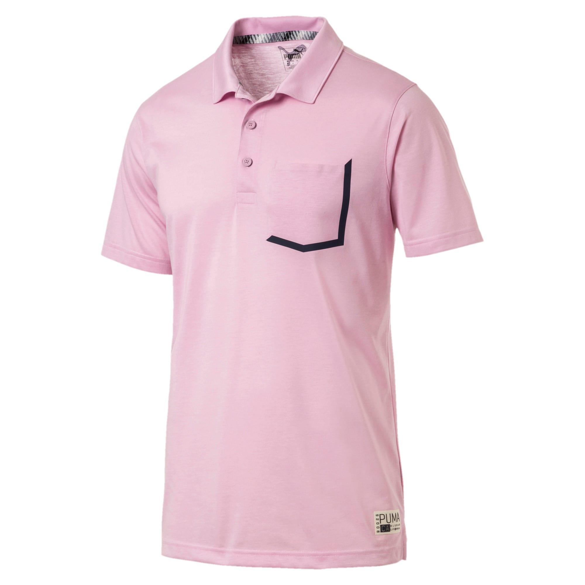 Miniatura 1 de Camiseta tipo polo Faraday para hombre, Pale Pink, mediano