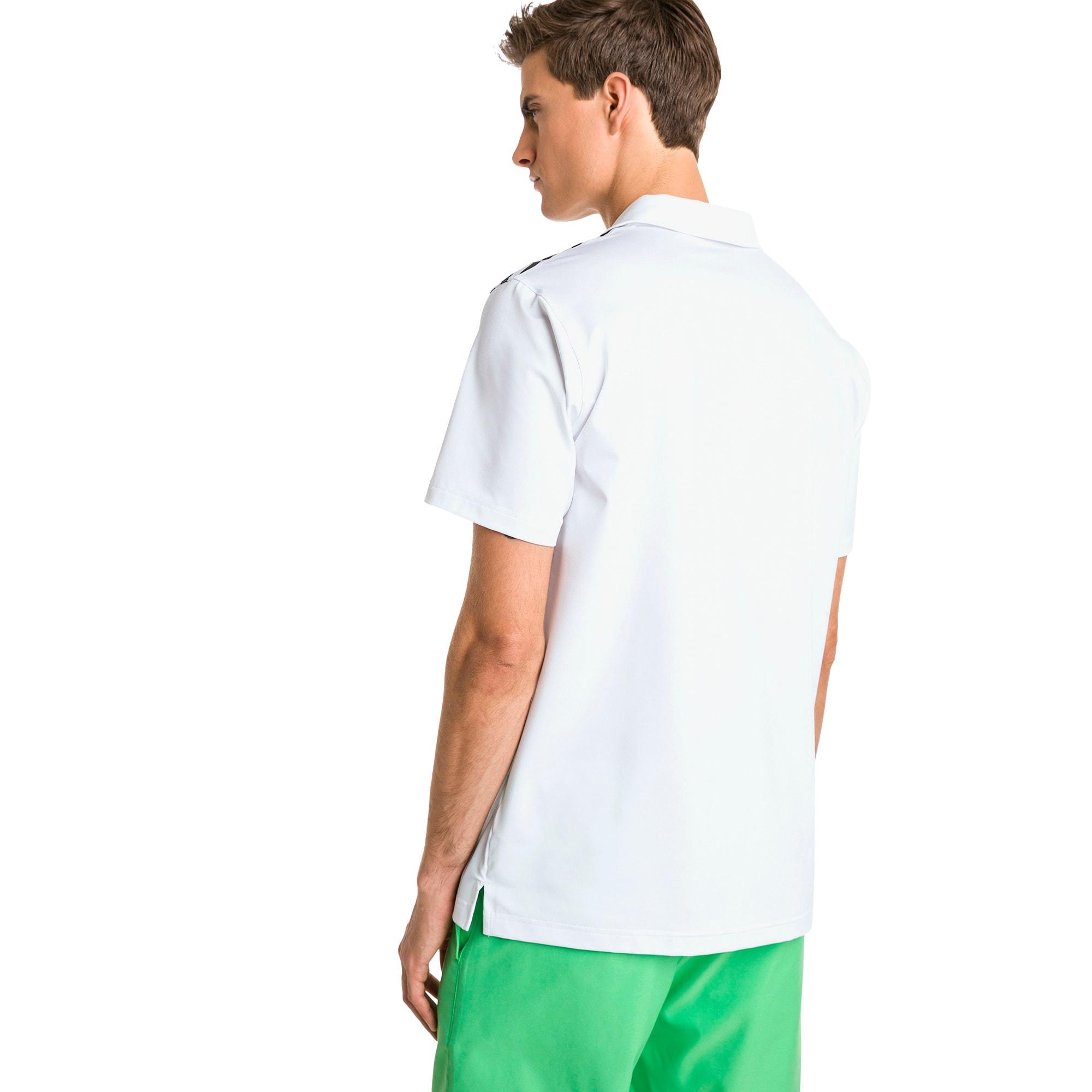 Thumbnail 2 of Road Map Men's Golf Polo, Bright White-Irish Green, medium