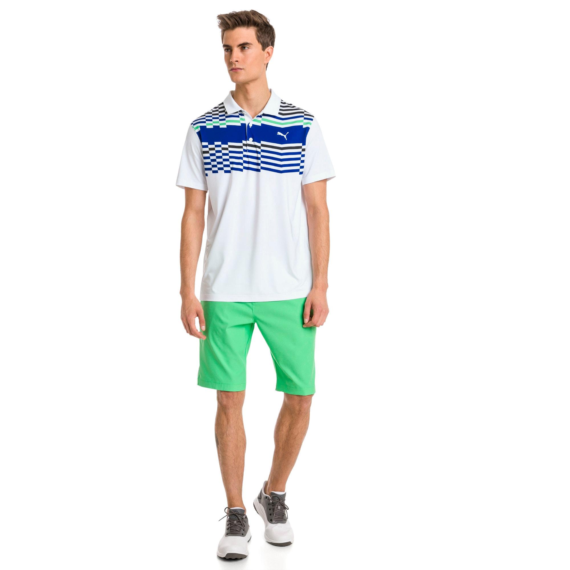 Thumbnail 3 of Road Map Men's Golf Polo, Bright White-Irish Green, medium