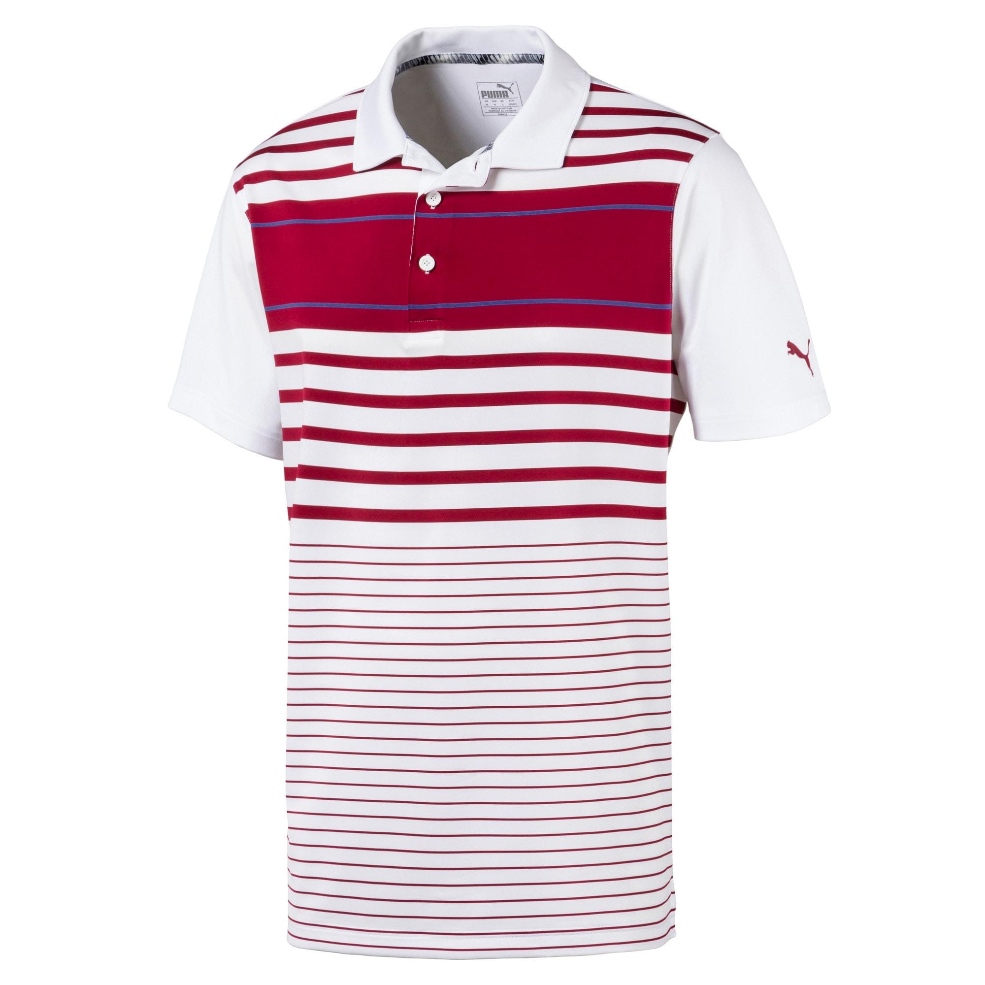 Miniatura 1 de Camiseta tipo polo Spotlight para hombre, Rhubarb-Peacoat, mediano