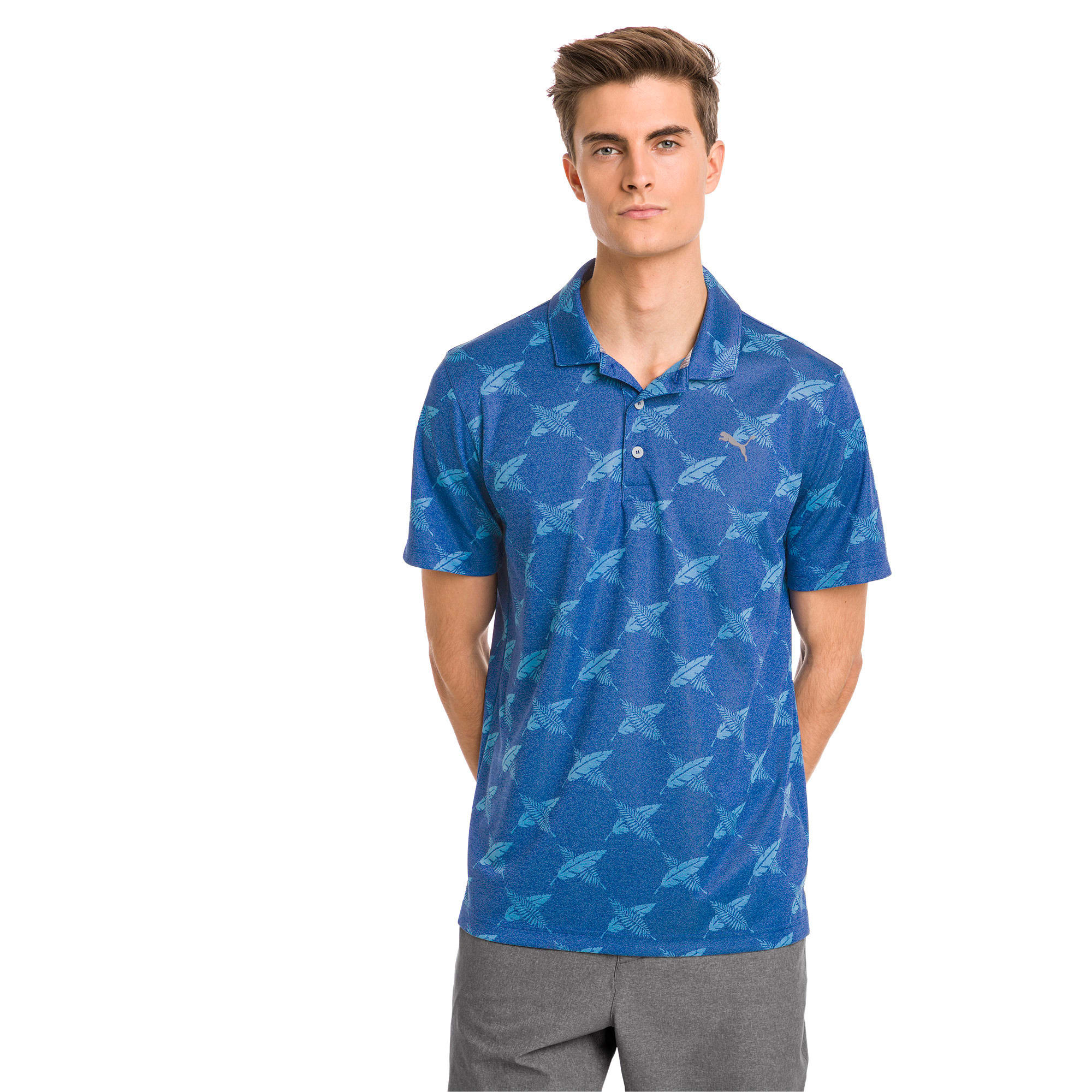 Thumbnail 1 of Polo de golf AlterKnit Palms pour homme, Surf The Web, medium