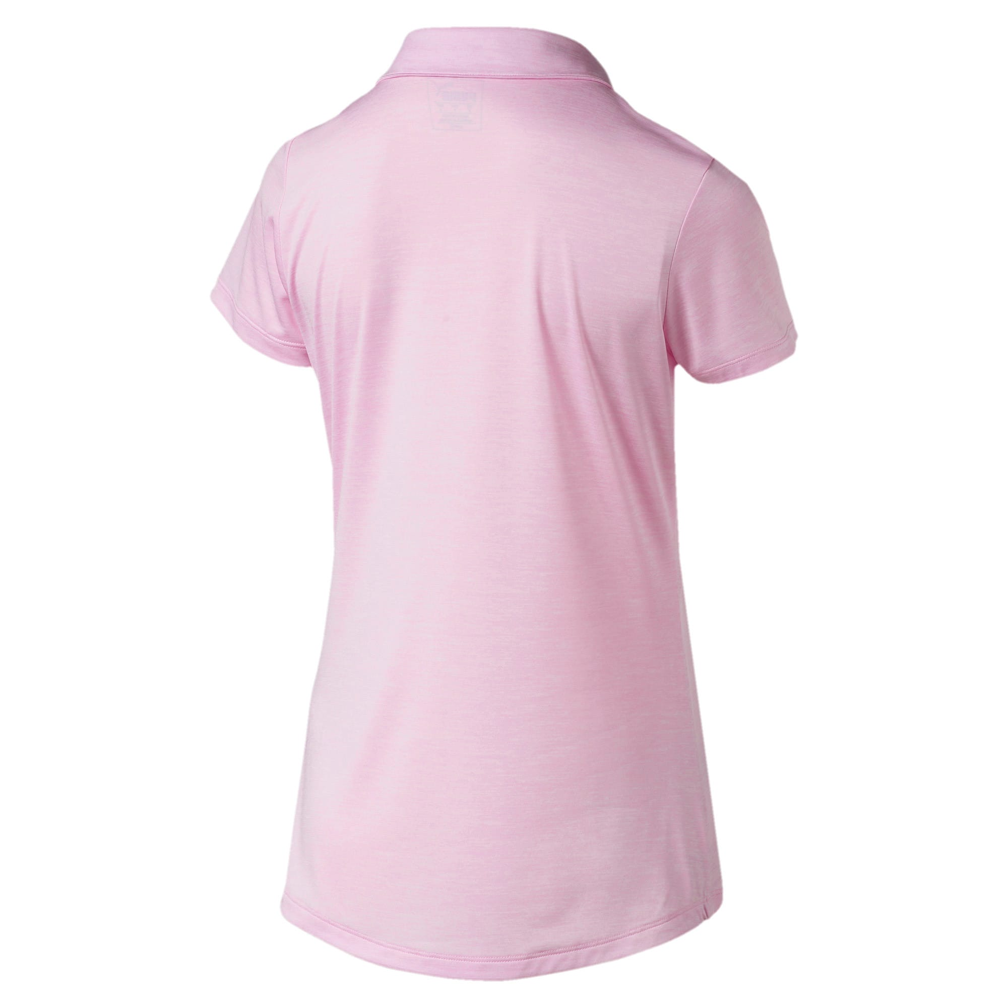 Miniatura 2 de Camiseta tipo polo Super Soft para mujer, Pale Pink Heather, mediano