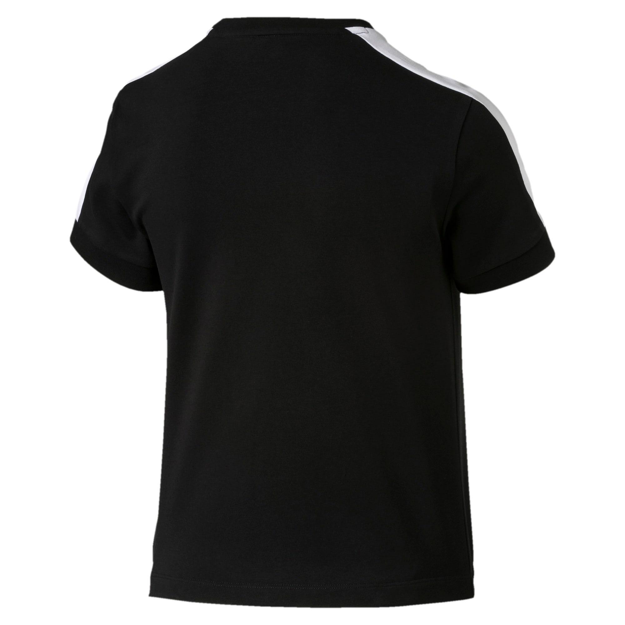 Thumbnail 5 of T-Shirt Classics T7 étroit pour femme, Cotton Black-puma white, medium
