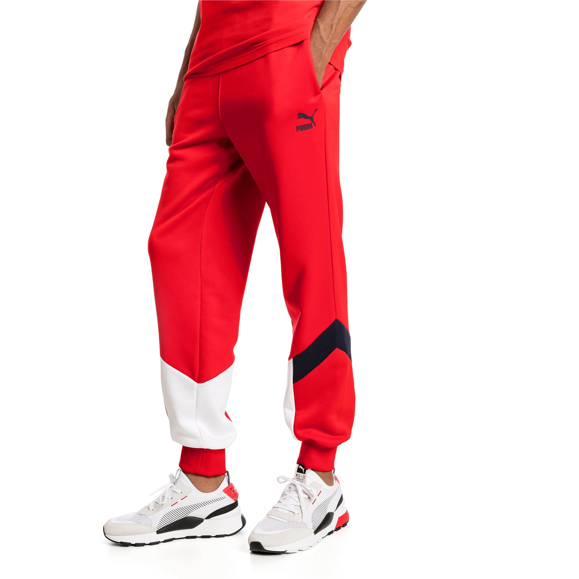 Thumbnail 2 of Iconic MCS Men's Track Pants, High Risk Red, medium