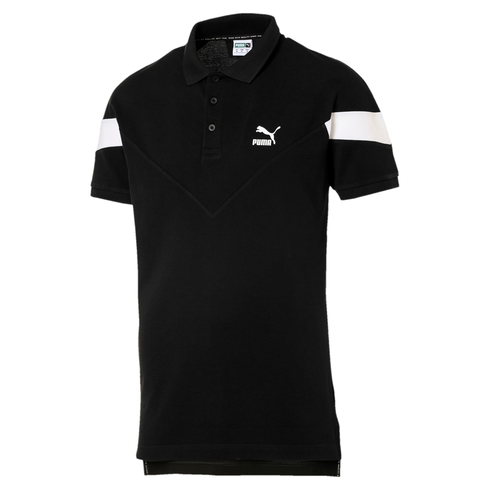 Thumbnail 1 of Iconic MCS Men's Slim Polo, Cotton Black, medium