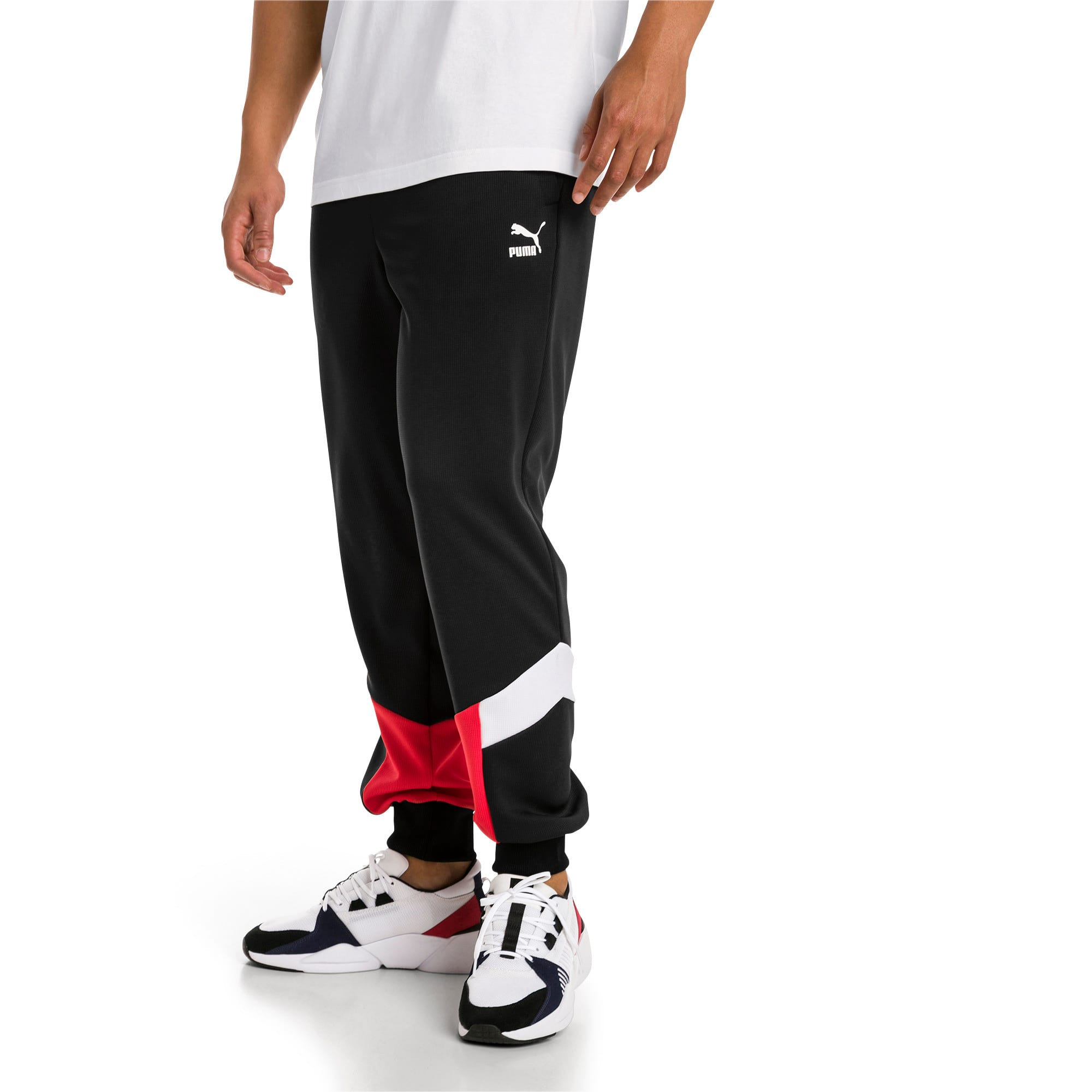 Iconic MCS Mesh Knitted Men's Track Pants, Puma Black, large