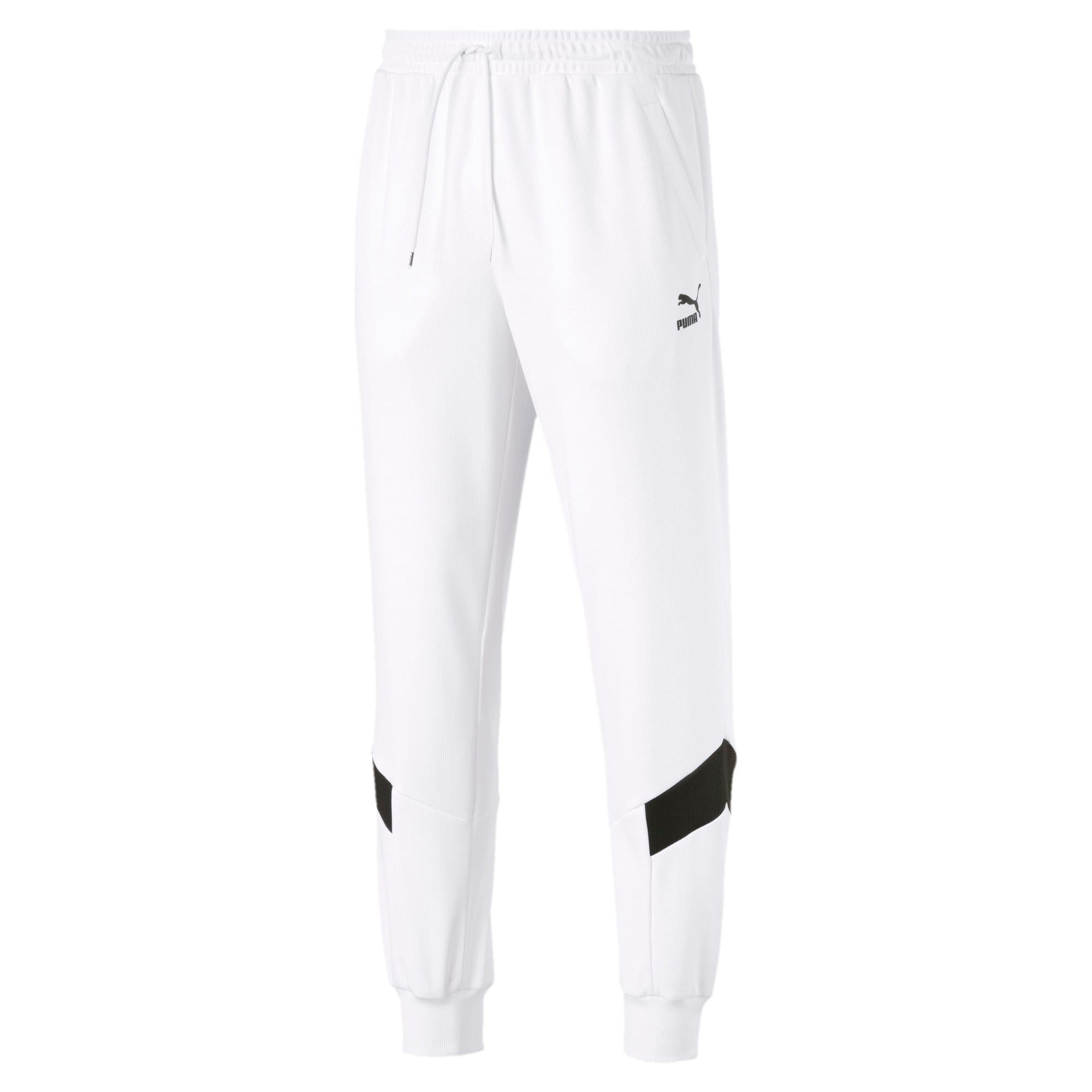 Thumbnail 1 of Iconic MCS Men's Mesh Track Pants, Puma White, medium