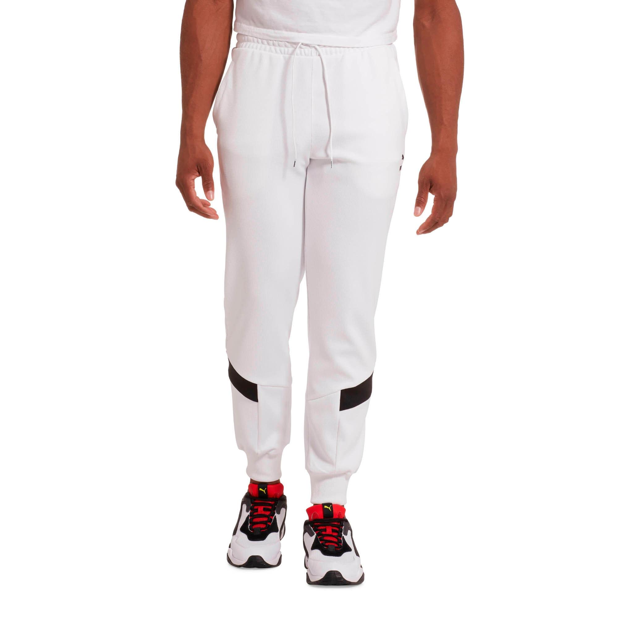 Thumbnail 2 of Iconic MCS Men's Mesh Track Pants, Puma White, medium