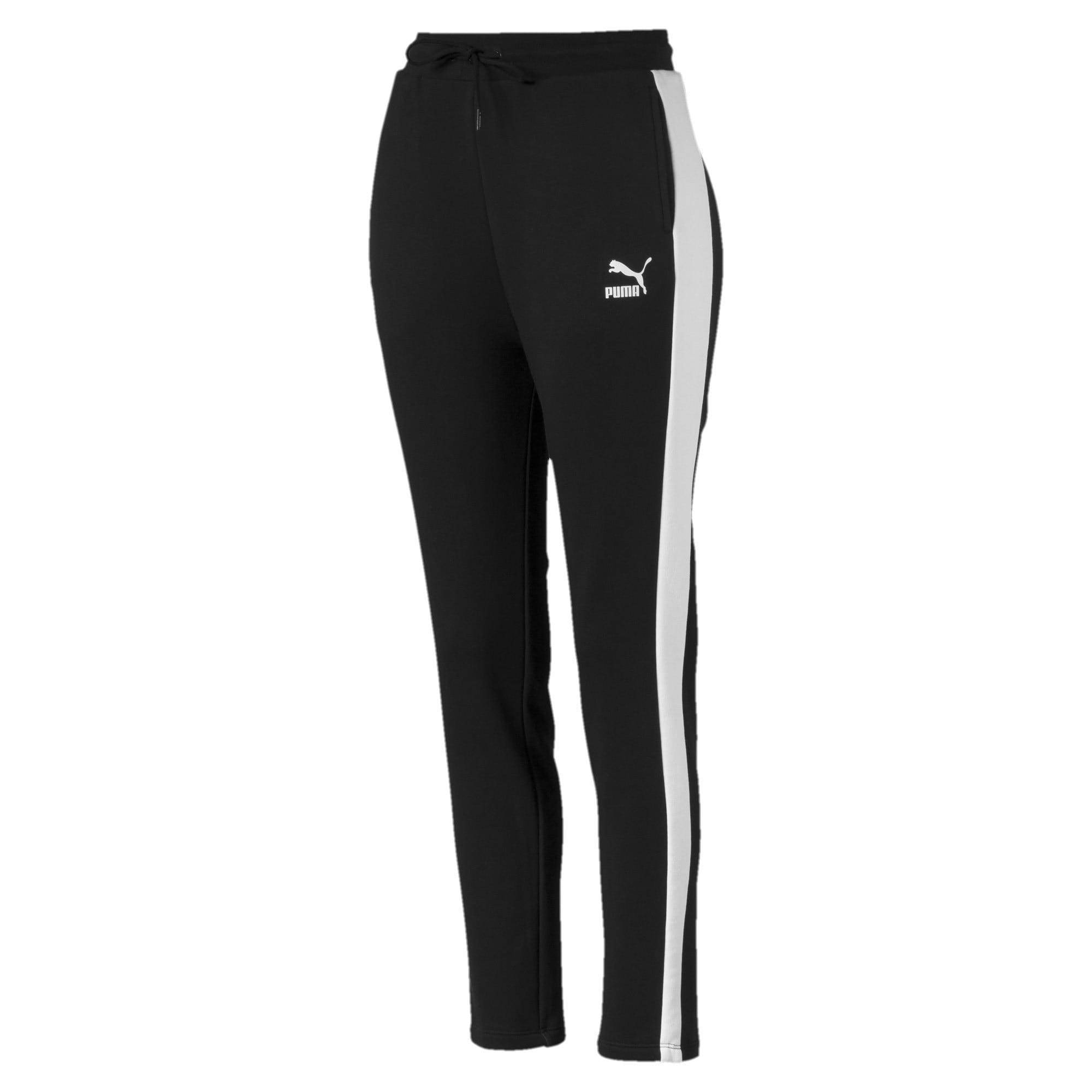 Miniatura 1 de Pantalones deportivos Classics T7 de felpa francesa para mujer, Cotton Black, mediano