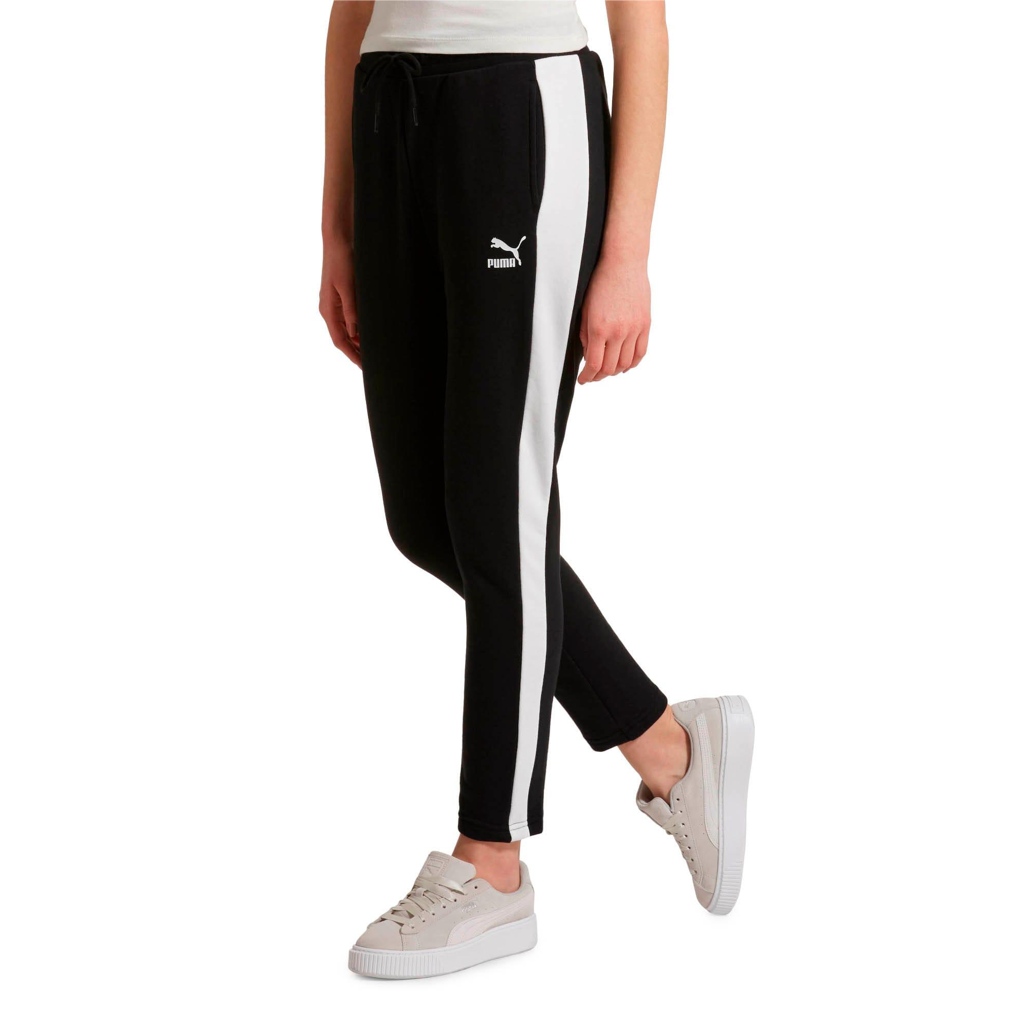 Miniatura 2 de Pantalones deportivos Classics T7 de felpa francesa para mujer, Cotton Black, mediano