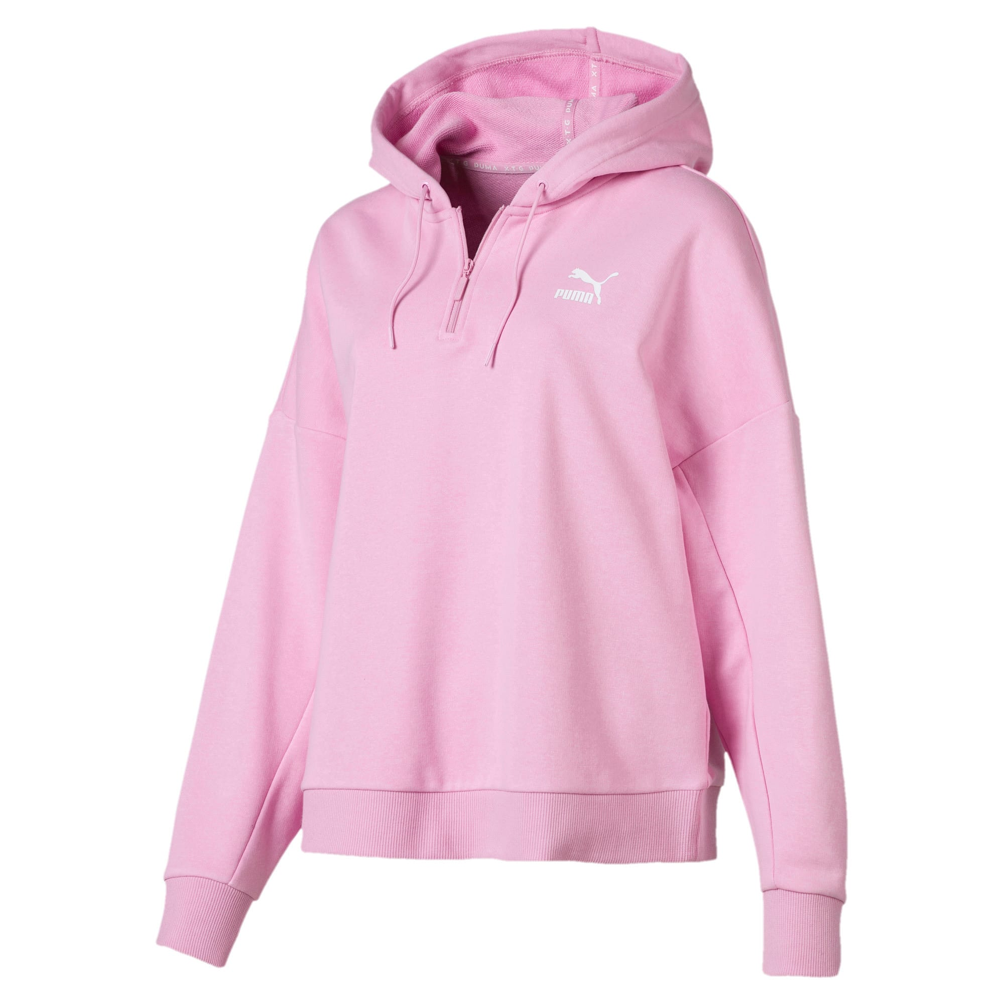 Thumbnail 2 of PUMA XTG Women's Half Zip Hoodie, Pale Pink, medium