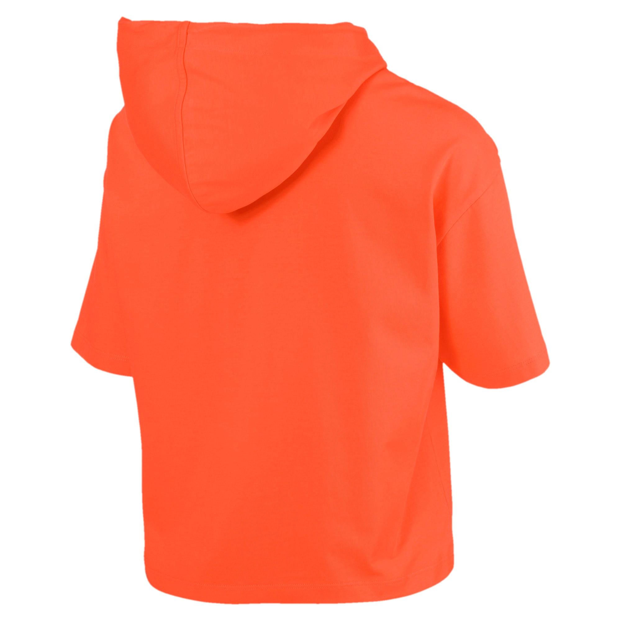 Thumbnail 4 of Classics Short Sleeve Hooded Women's Top, Nasturtium, medium