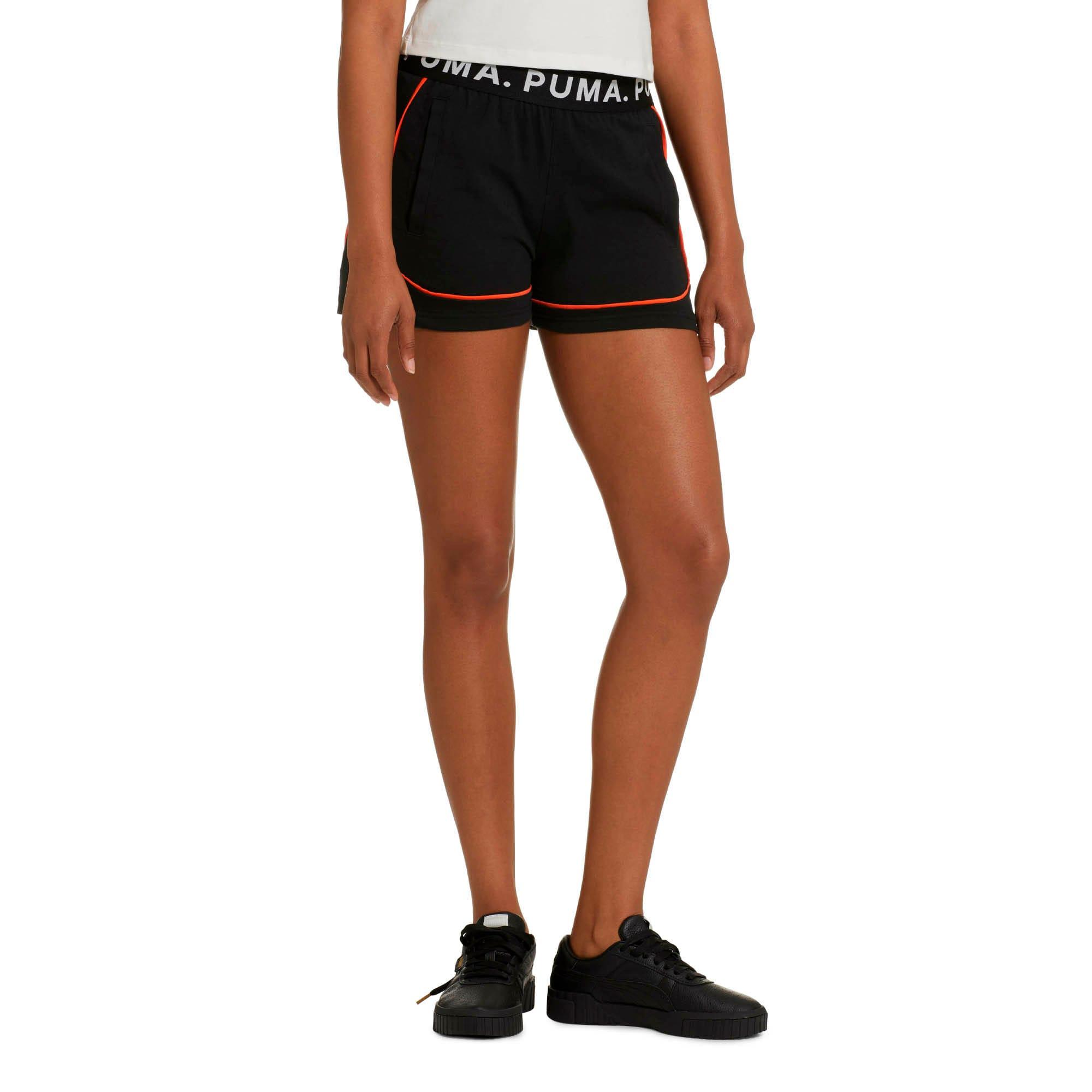 Miniatura 1 de Shorts Chase para mujer, Cotton Black, mediano