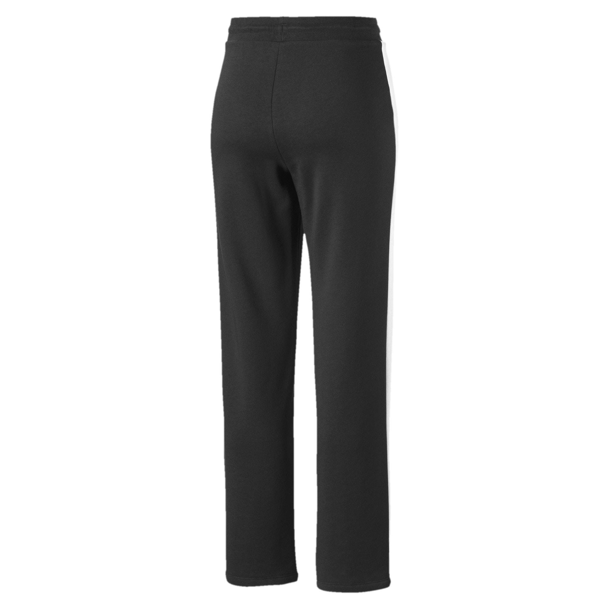 Thumbnail 2 of Pantalon à jambe droite Classics T7 pour femme, Cotton Black-Puma White, medium