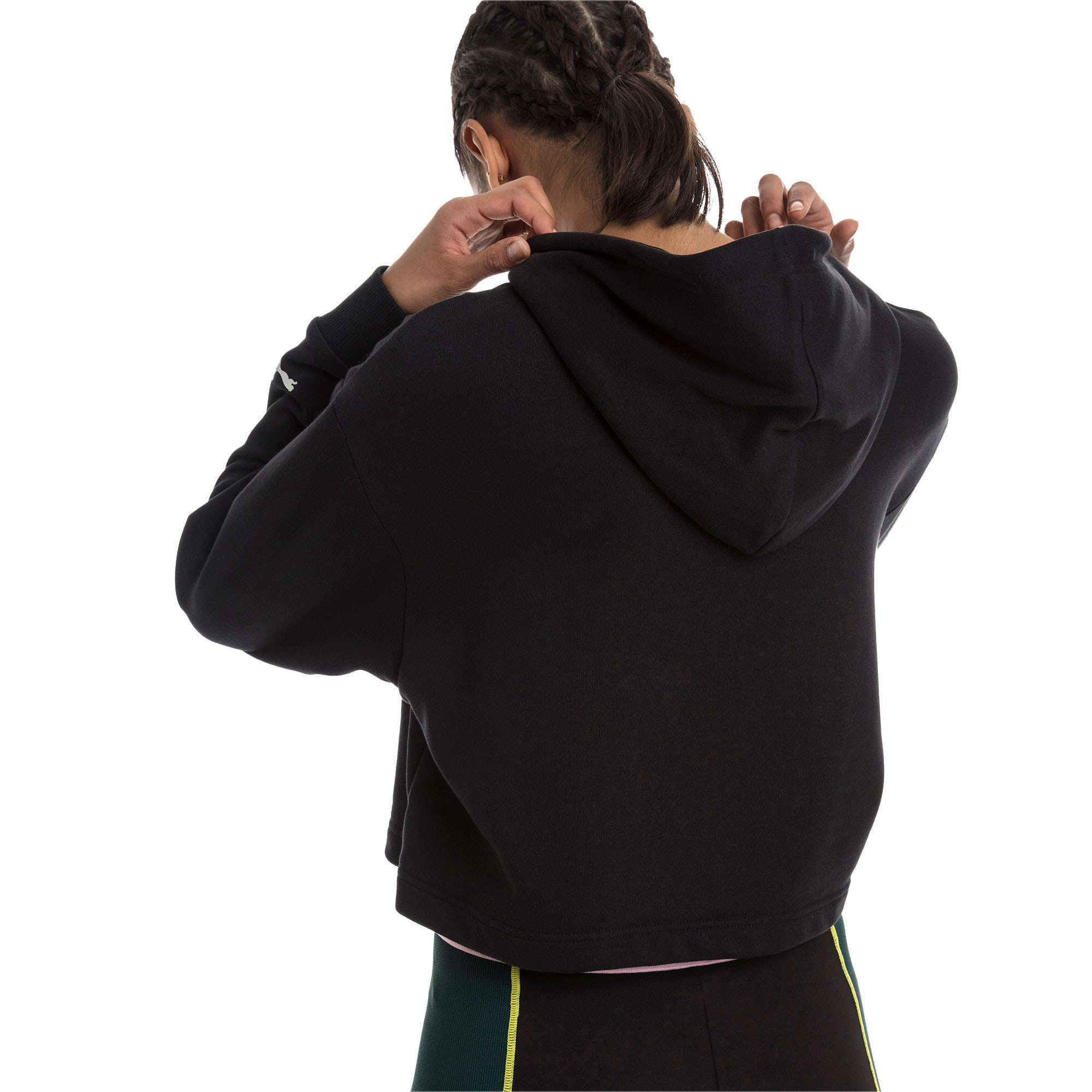 Thumbnail 2 of Trailblazer Women's Hoodie, Cotton Black, medium