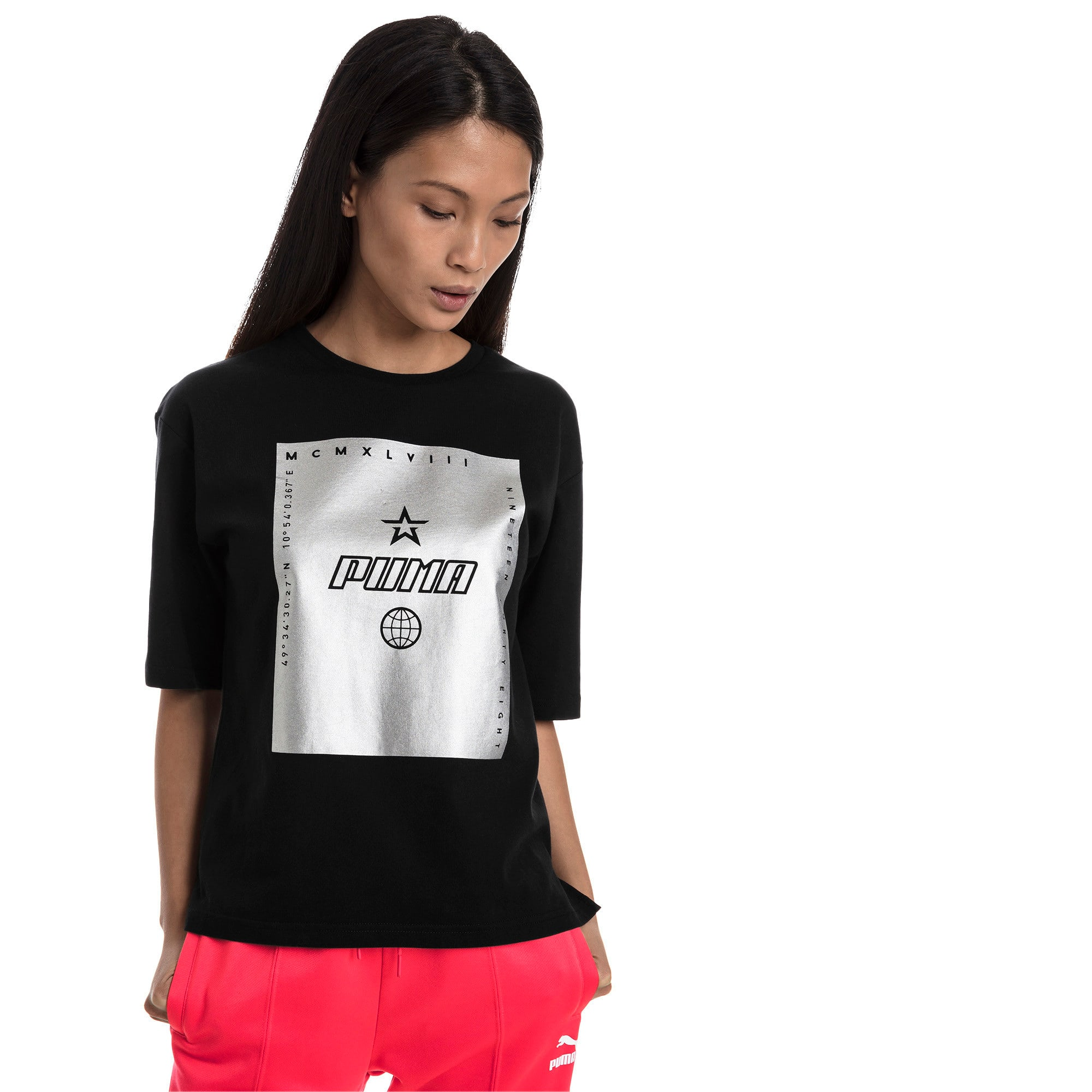 Miniatura 2 de Camiseta Trailblazer para mujer, Cotton Black, mediano