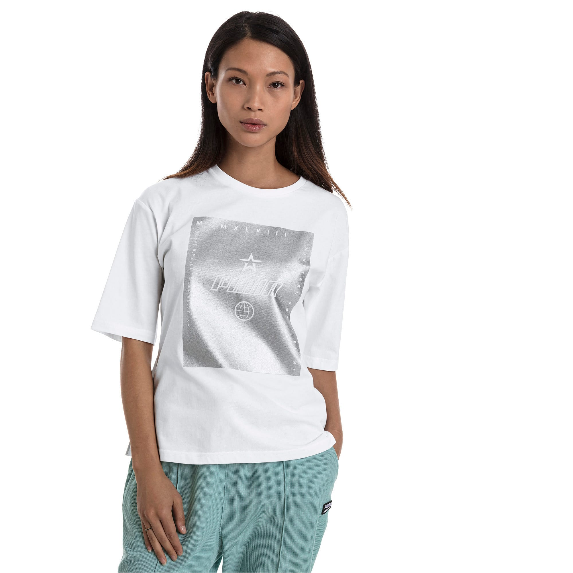 Thumbnail 2 of Trailblazer Women's Tee, Puma White, medium