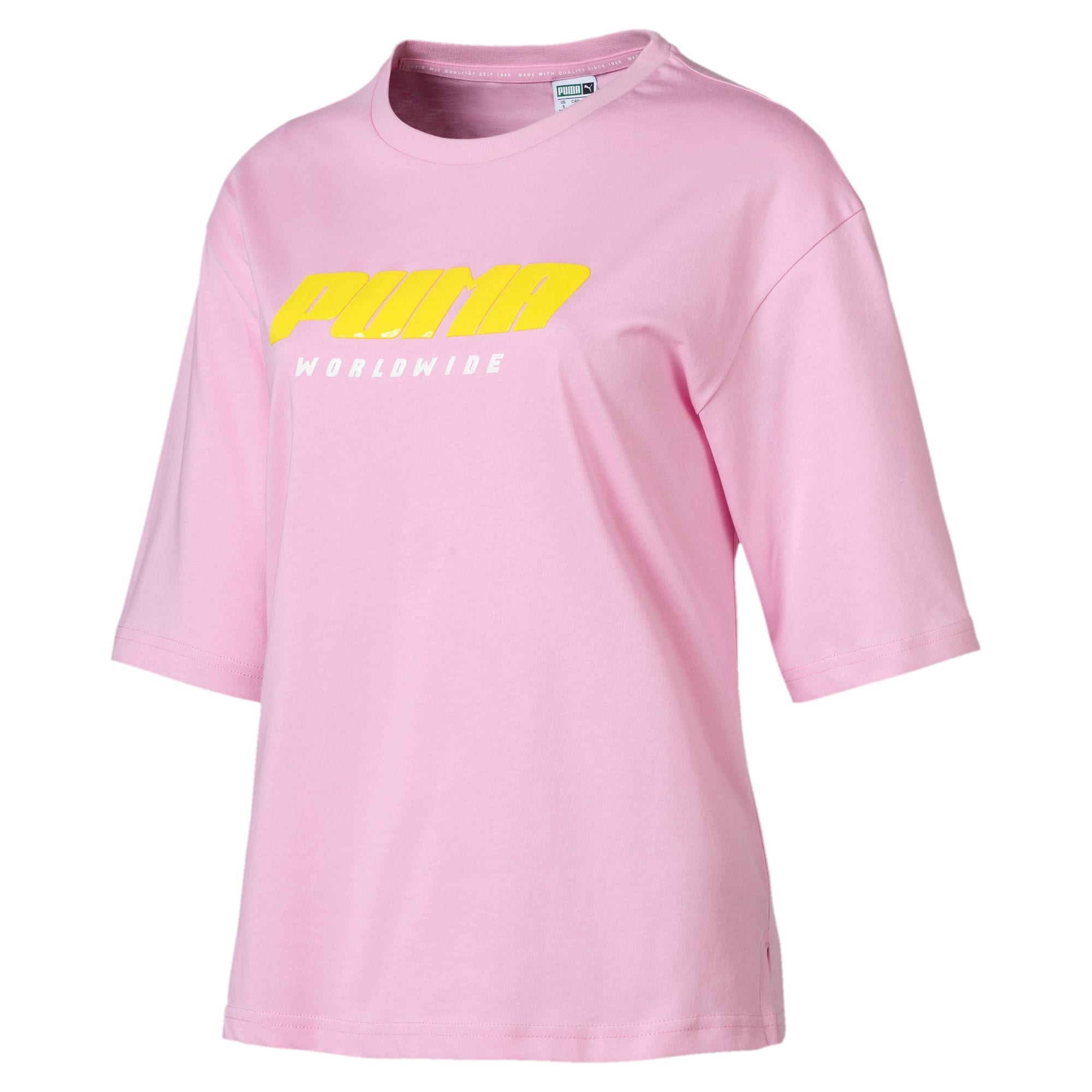 Thumbnail 4 of Trailblazer Women's Tee, Pale Pink, medium