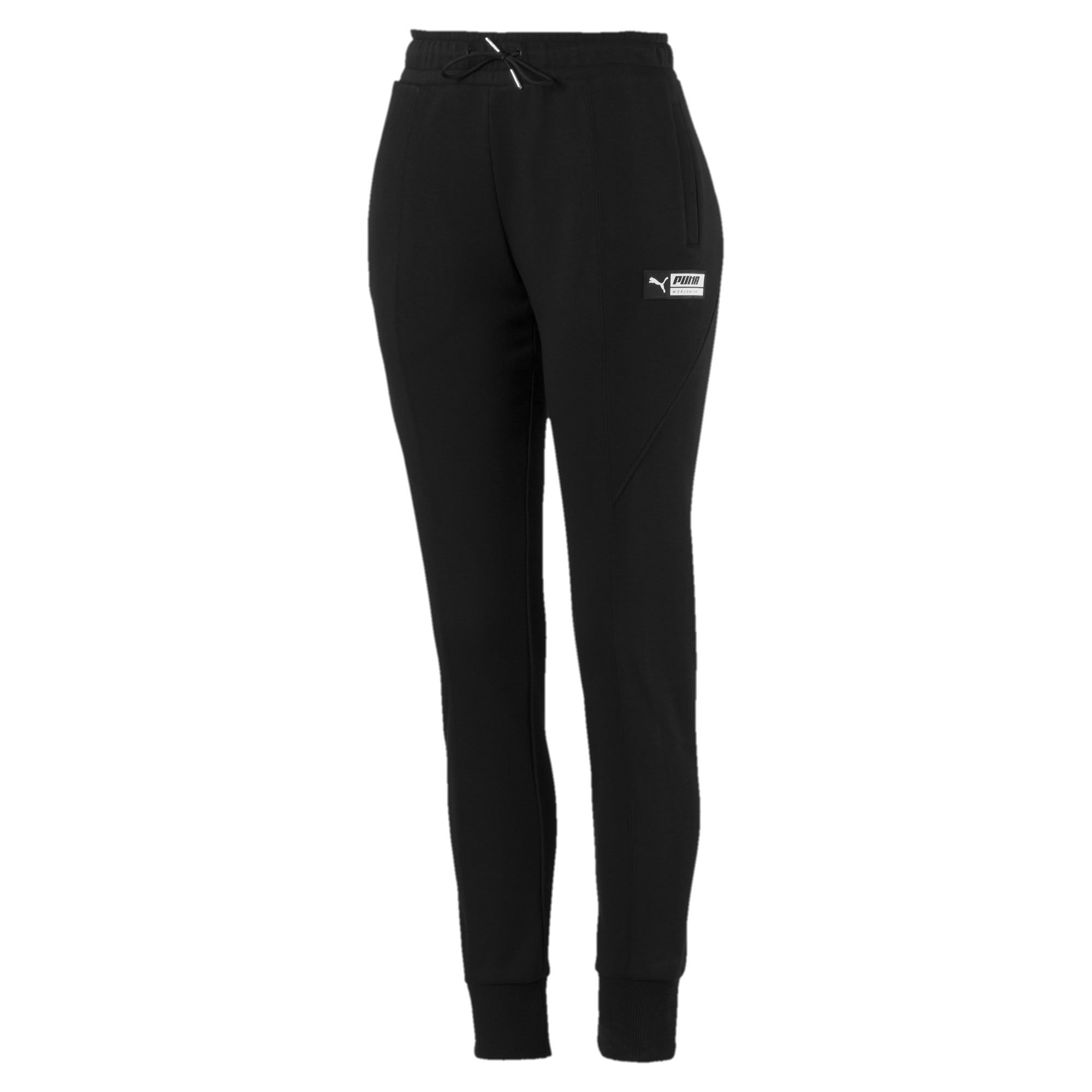 Thumbnail 4 of TZ Damen Trainingshose, Puma Black, medium
